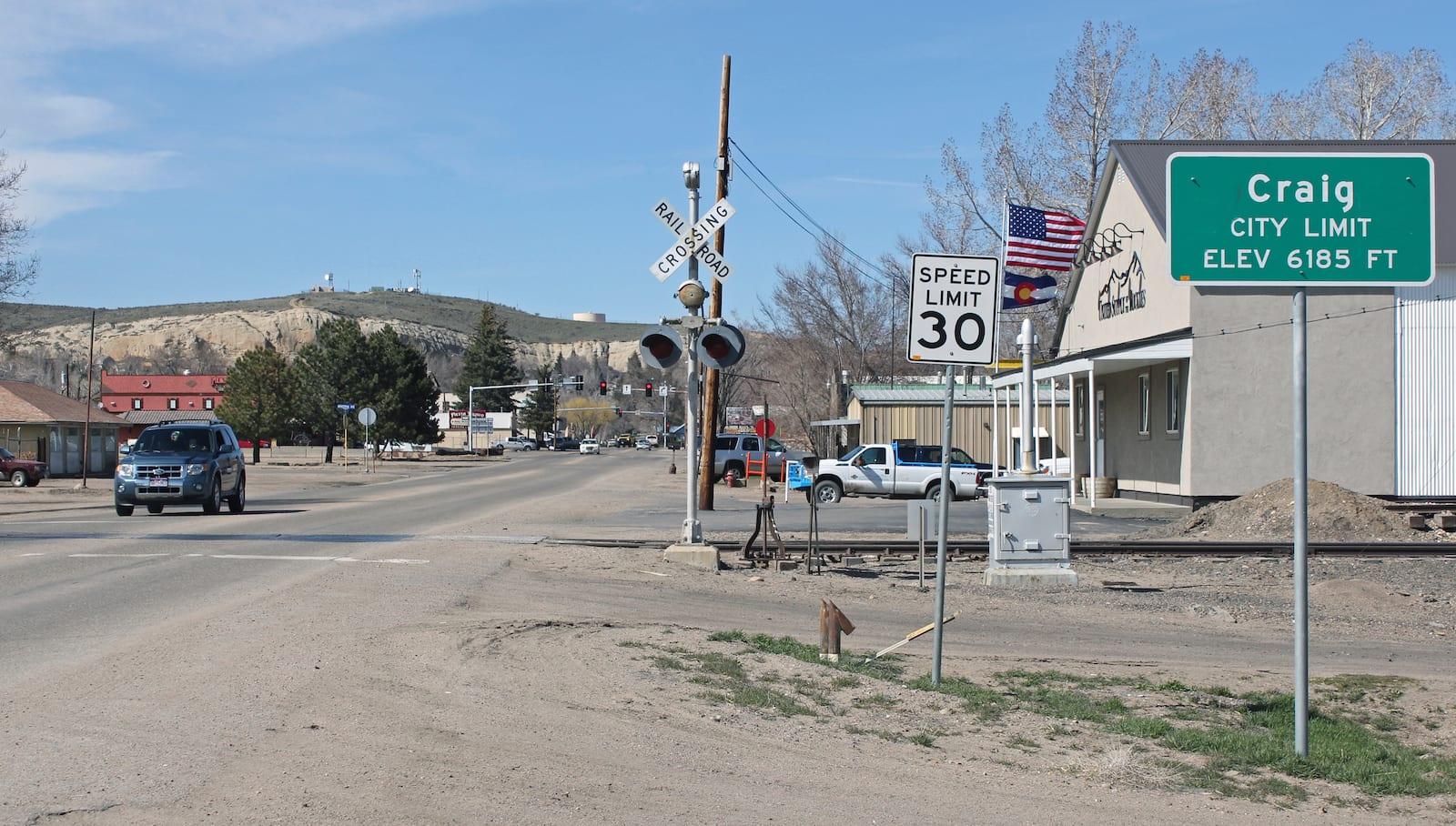 Craig Colorado City Limit Sign