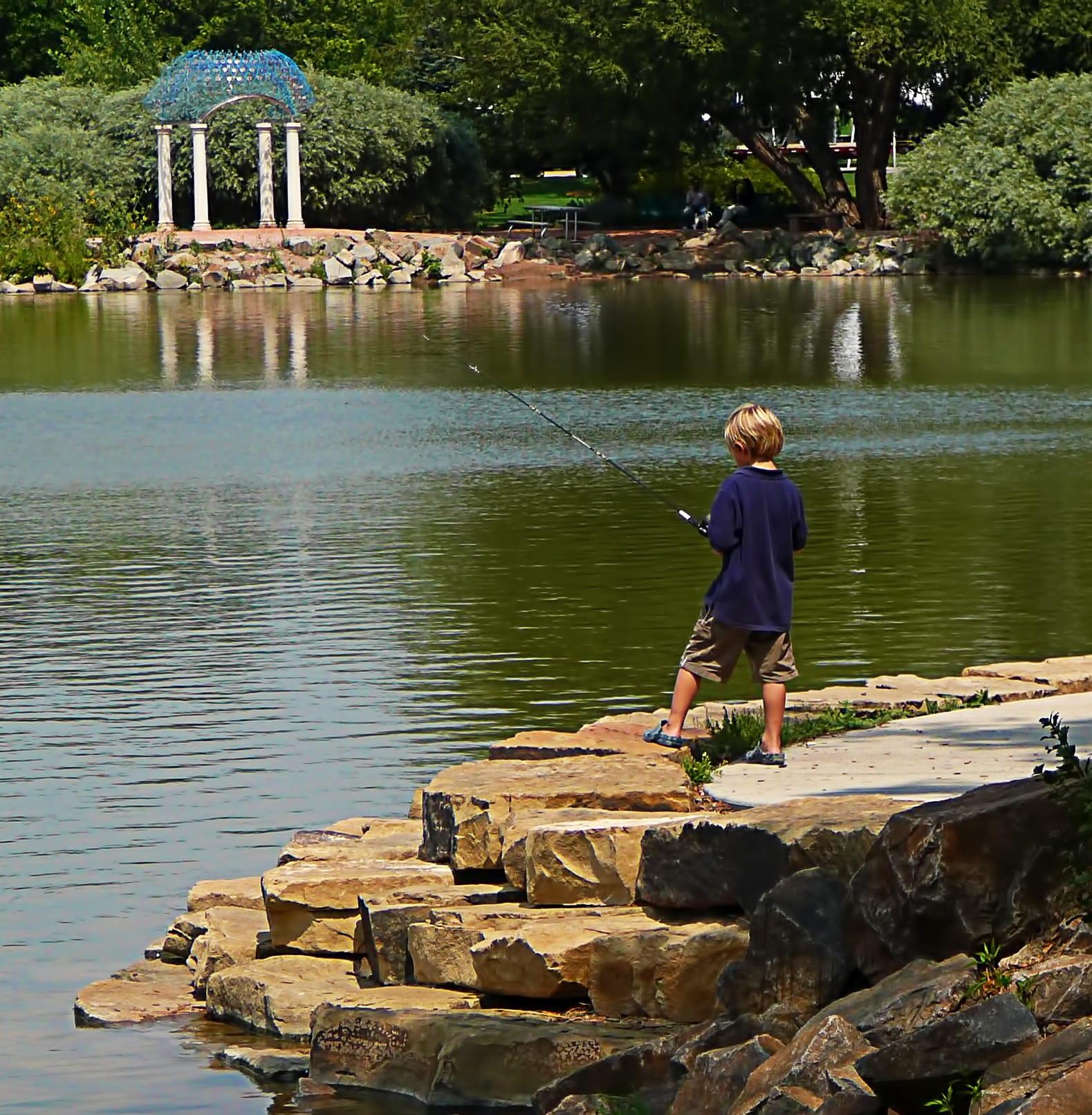 Fishing at Sheldon Lake City Park Fort Collins CO