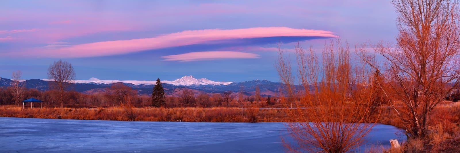 Golden Ponds Park Sunrise Longmont CO