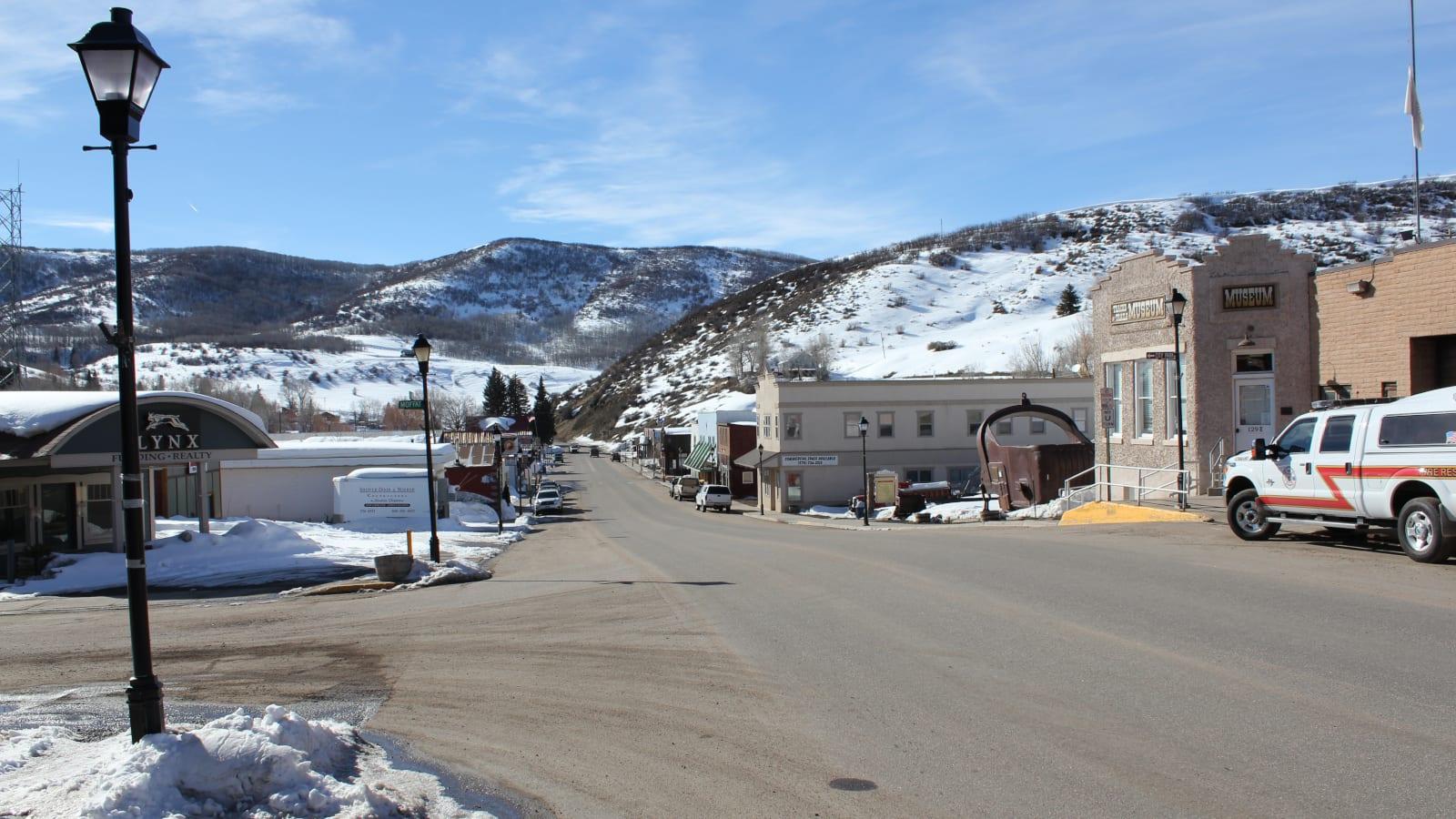 Oak Creek CO Main Street Winter