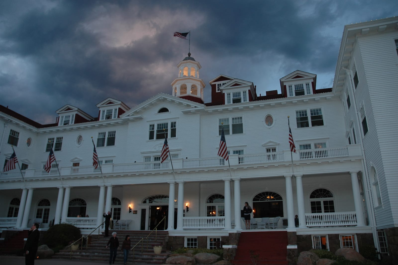 Haunted Stanley Hotel Night Sky Clouds Estes Park