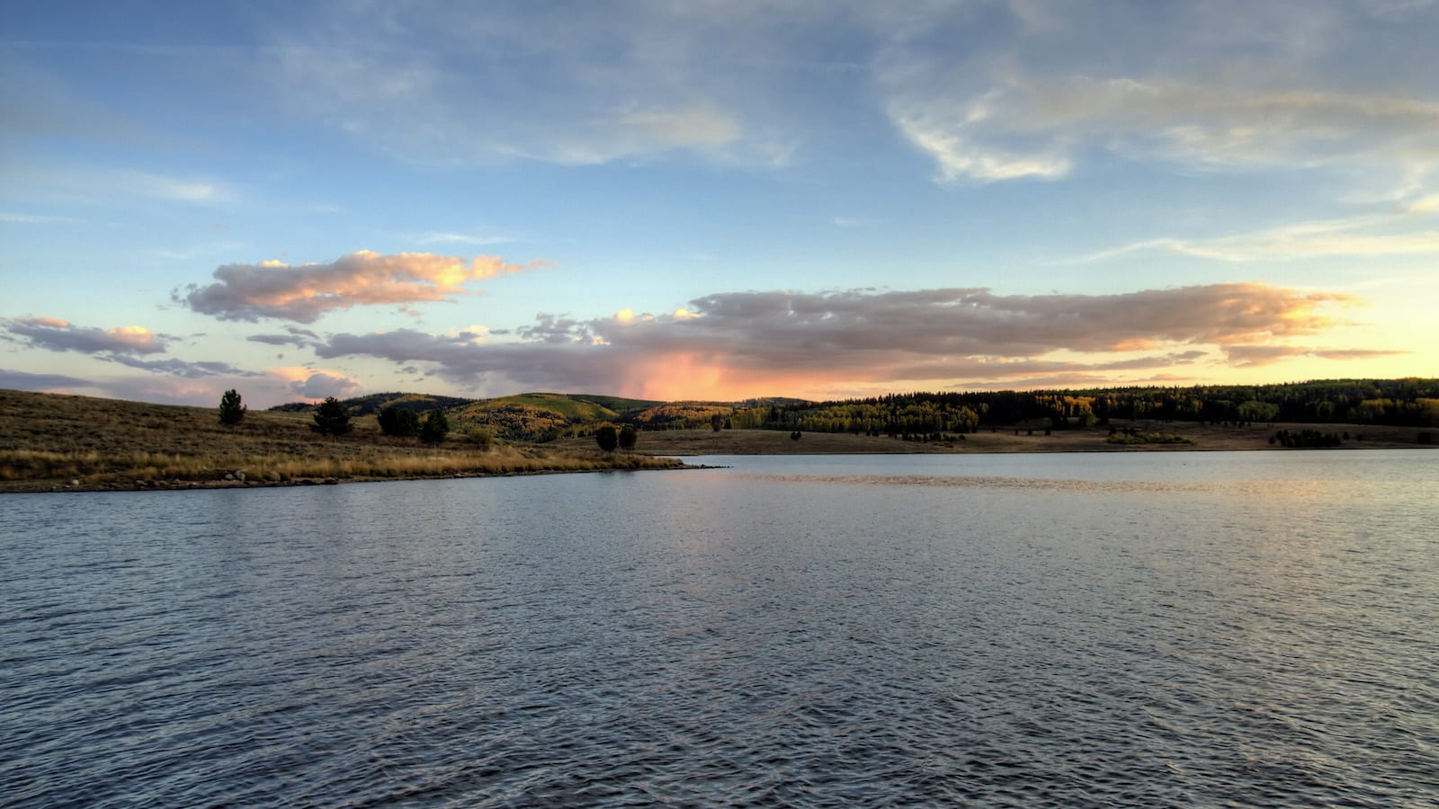 Steamboat Lake State Park Sunset Colorado