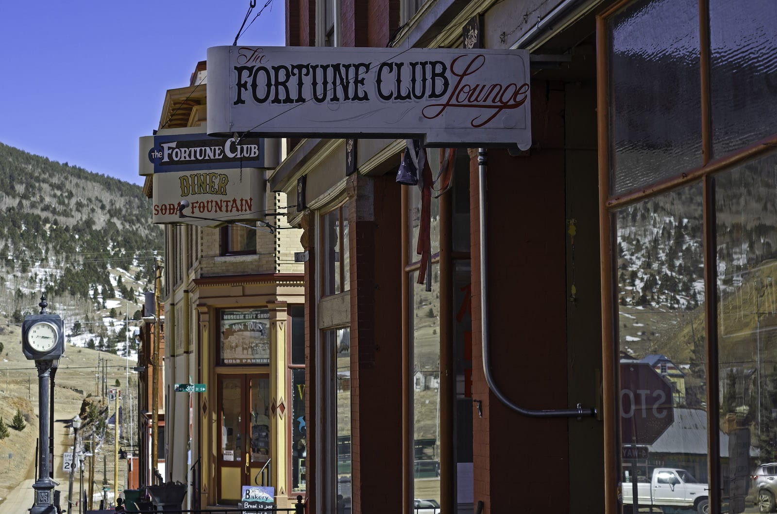 The Fortune Club Lounge Sign Victor Colorado