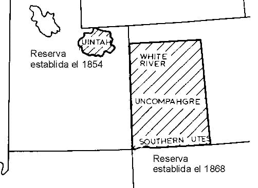 Ute Territory after Treaty of 1868