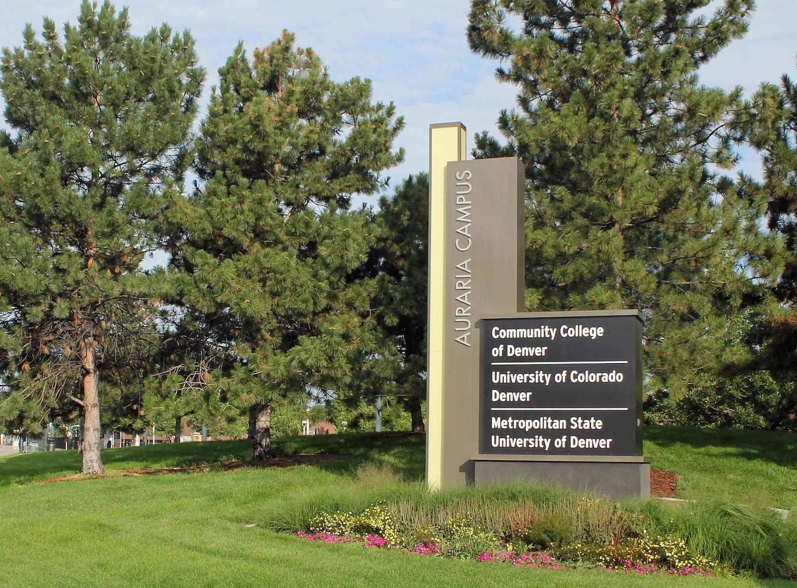 Auraria Campus Sign Denver CO