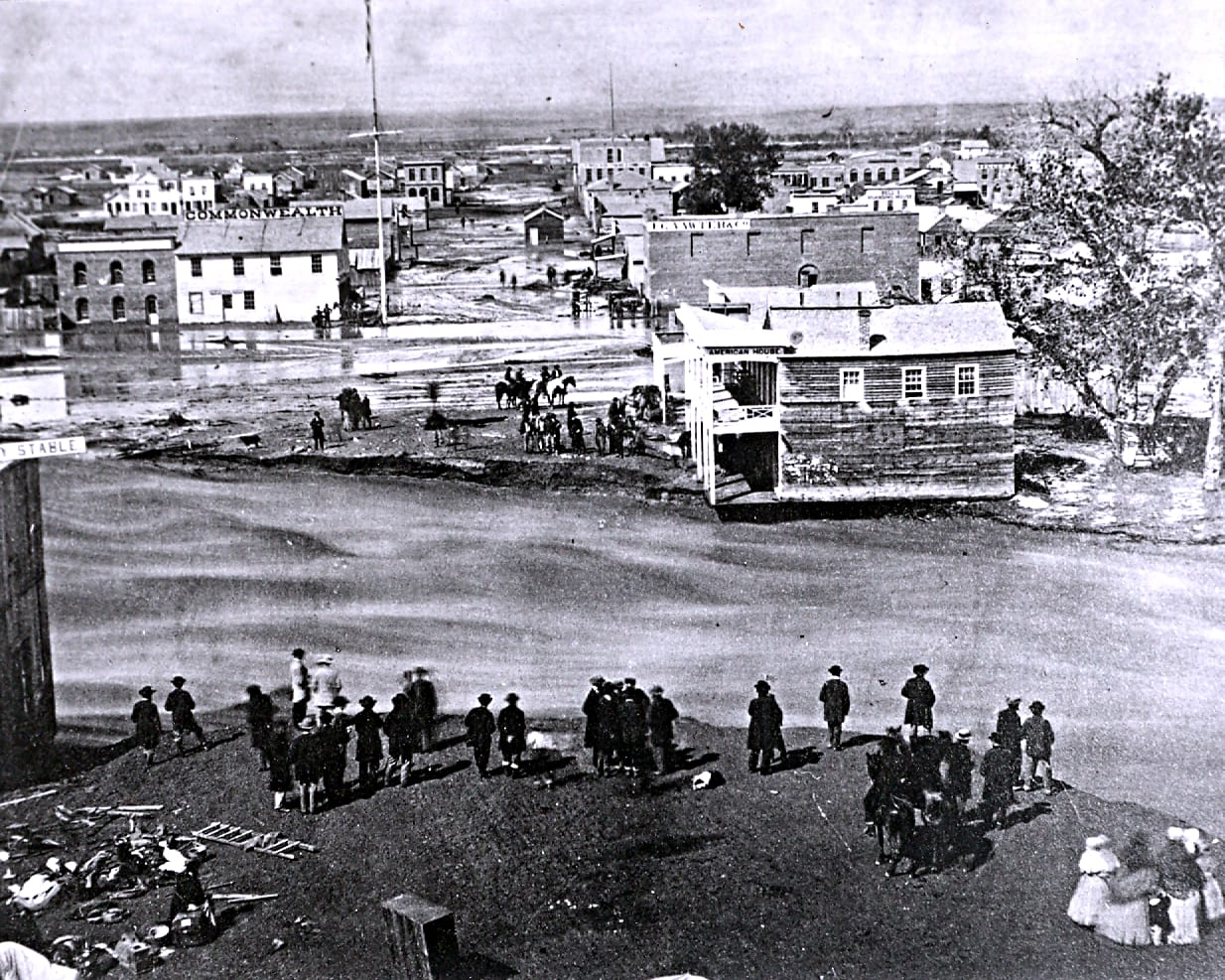 Auraria, Colorado Cherry Creek Flood of 1864