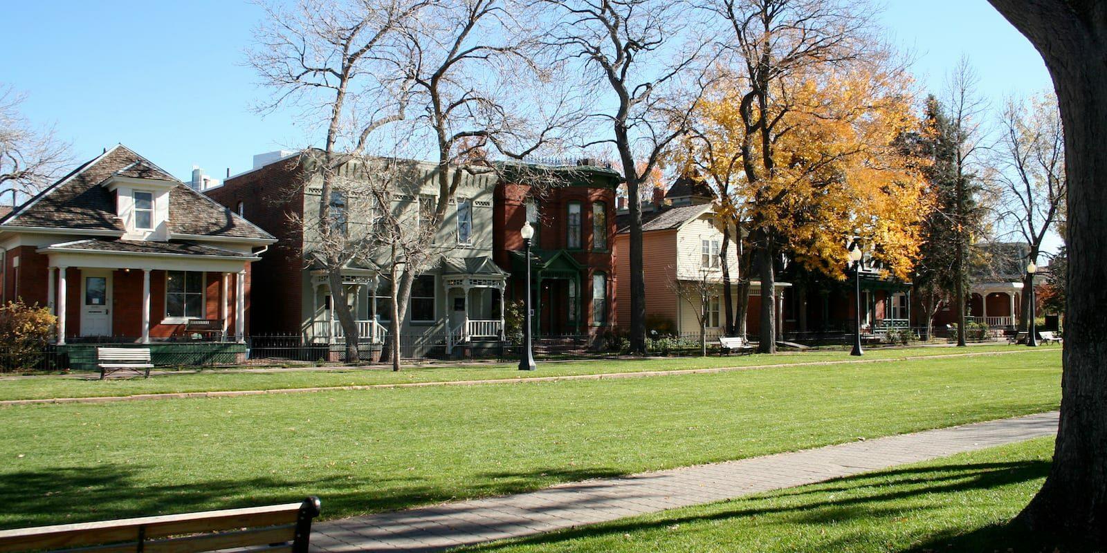 Auraria Colorado Ninth Street Historic Park Homes