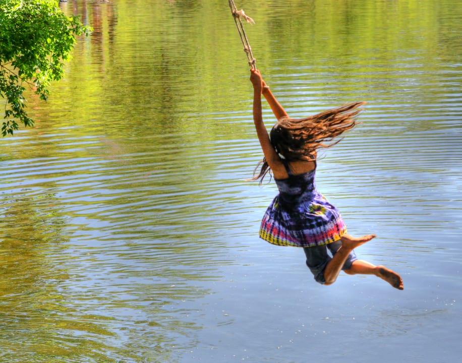 Cache La Poudre River Rope Swing