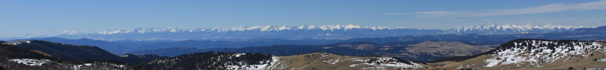 Colorado Sangre De Cristo Mountains Panorama