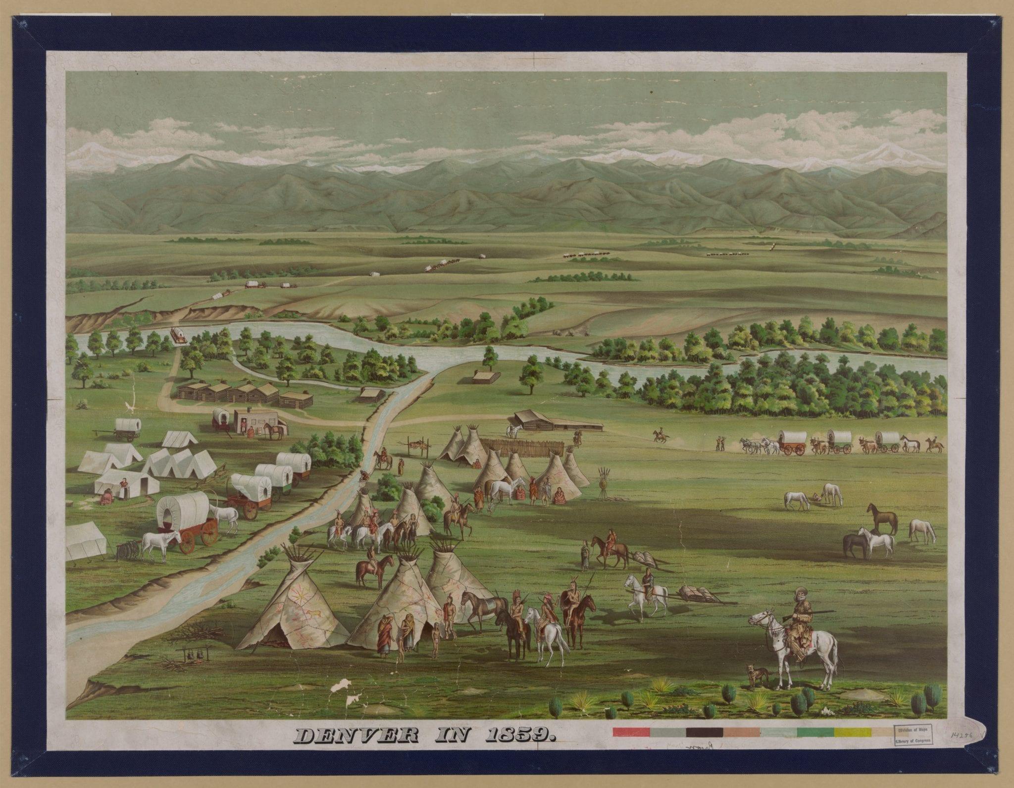 Denver Colorado in 1859
