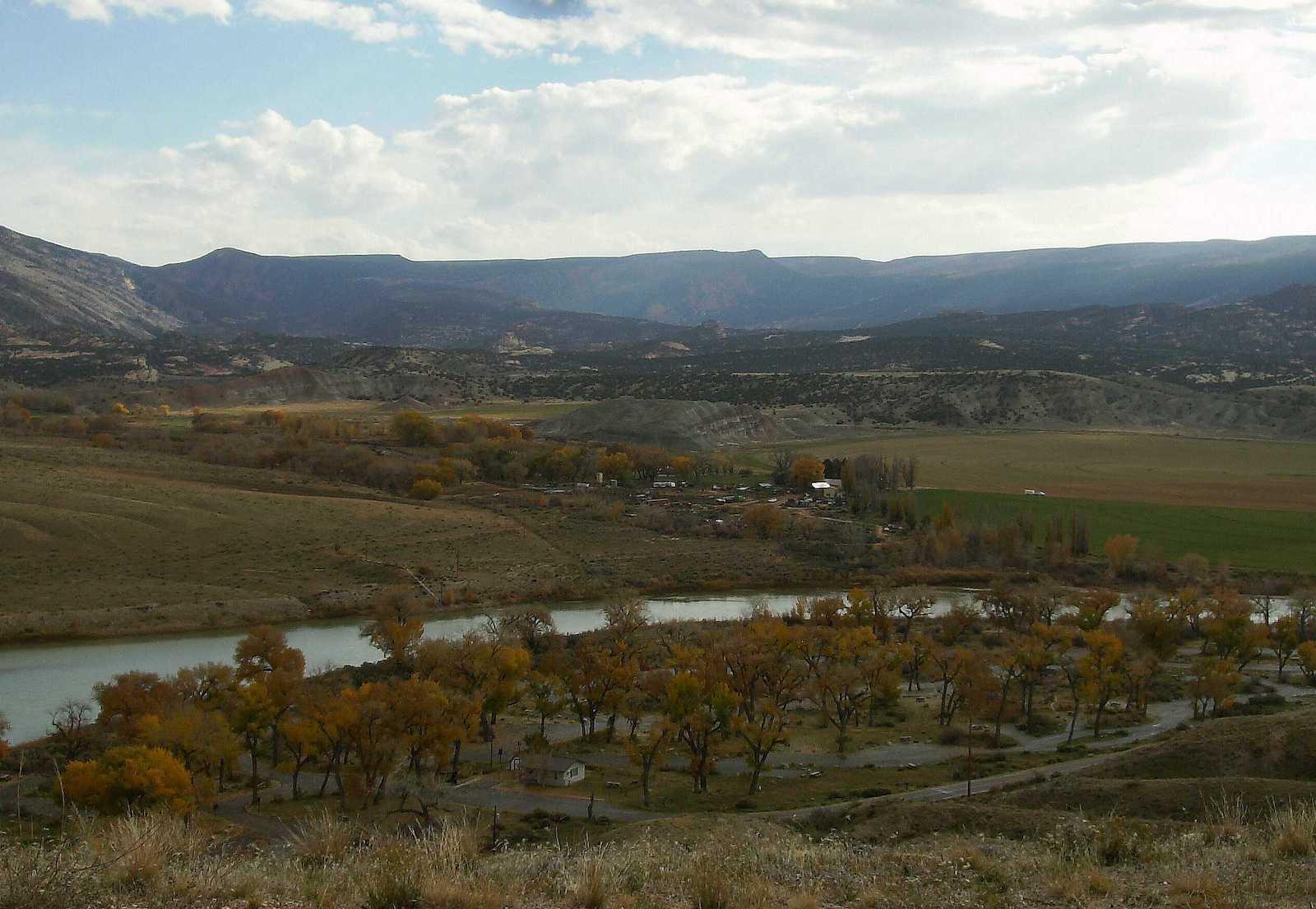 Dinosaur National Monument Green River Campground Utah