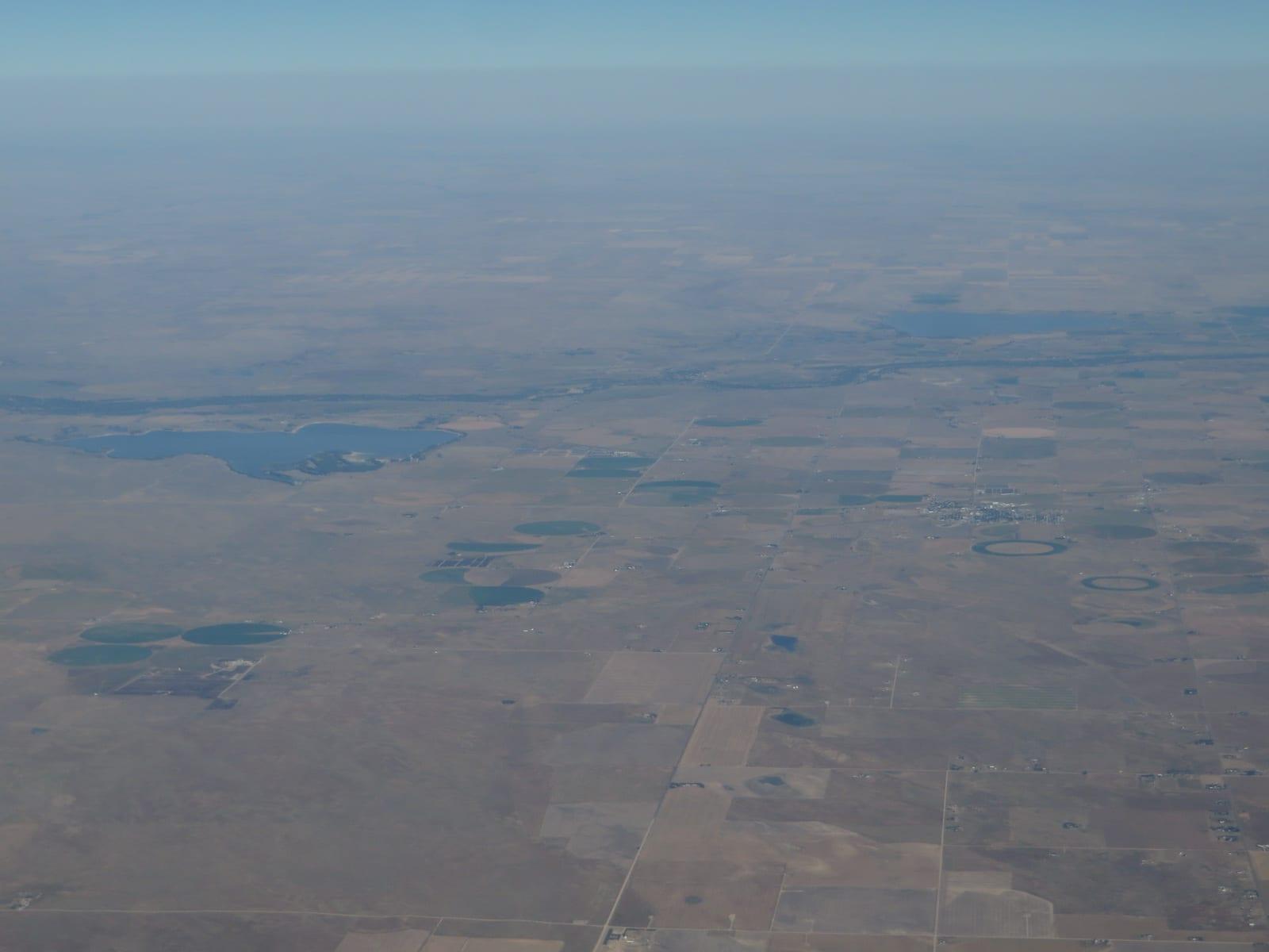 Wiggins Colorado Empire Reservoir Aerial View