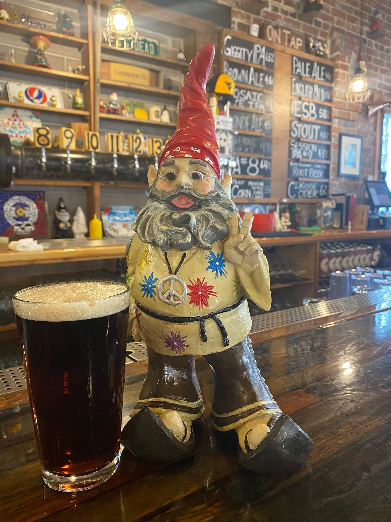 image of beer at grateful gnome brewery