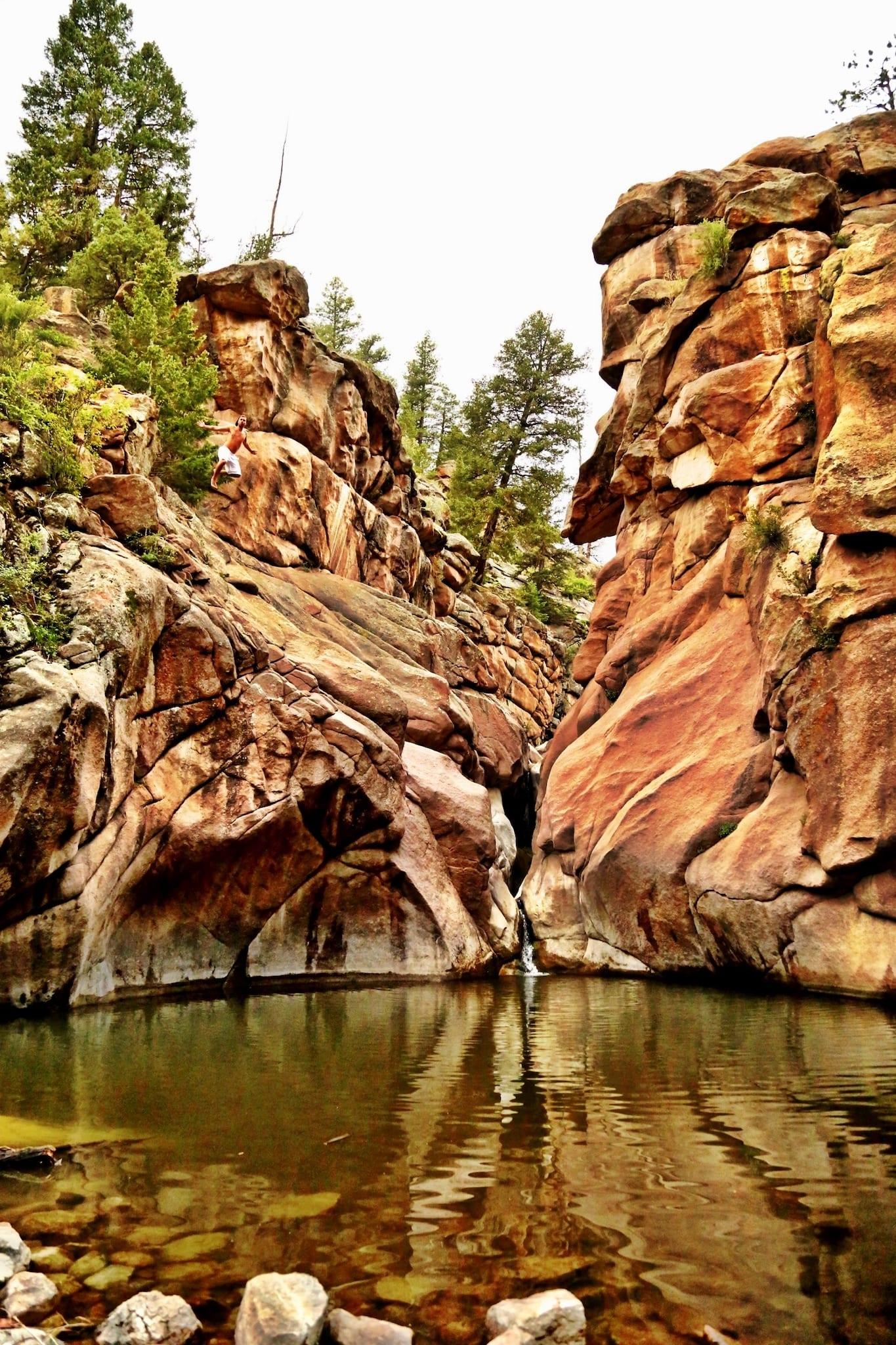 Guffey Gorge Paradise Cove Cliff Jumping Colorado
