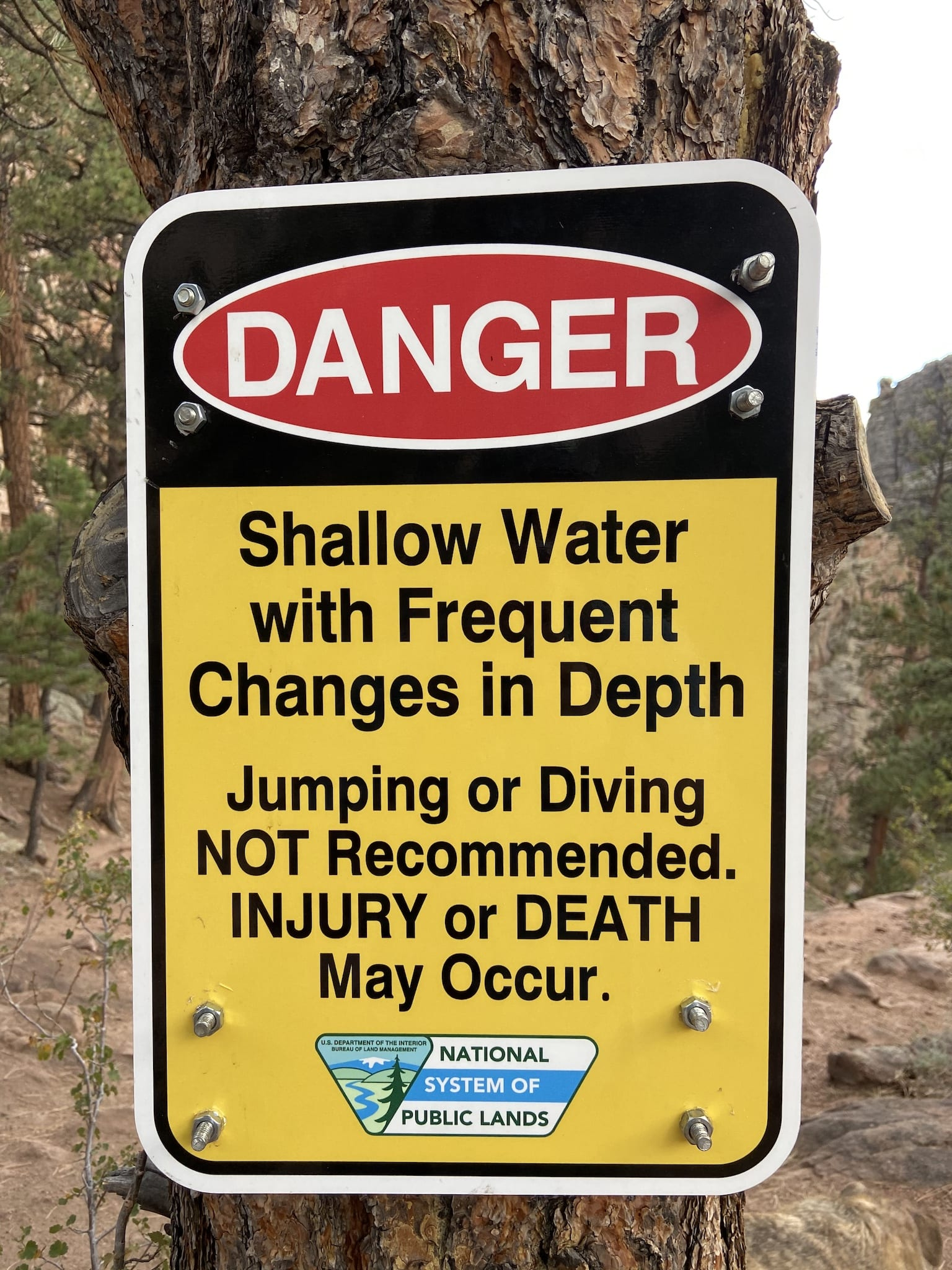 Danger Shallow Water Guffey Gorge