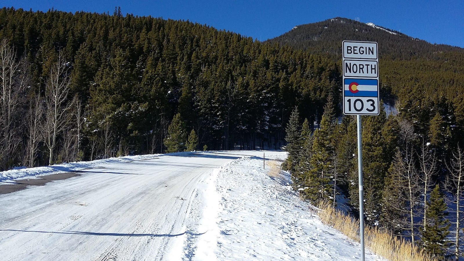 State Highway 103 Squaw Mountain Colorado