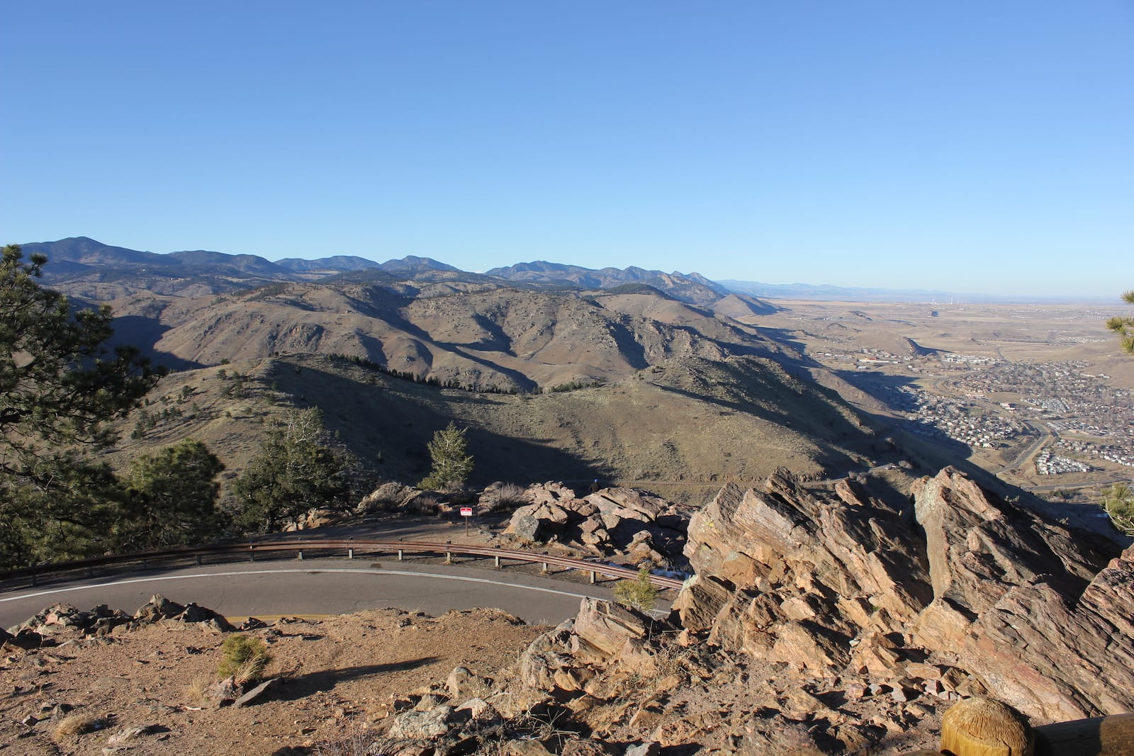 Lookout Mountain Road View Golden