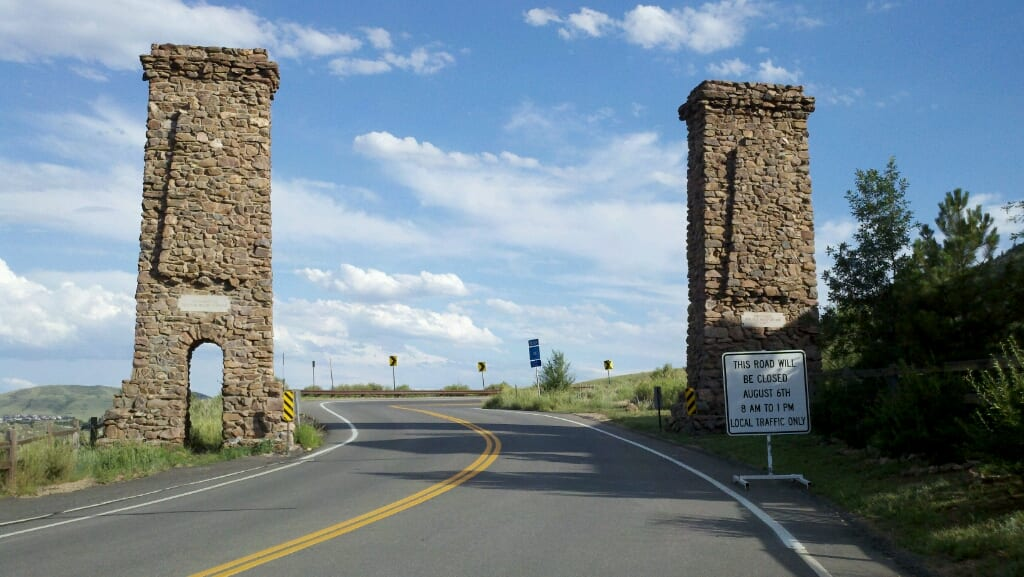 Lookout Mountain Road Entrance Golden CO