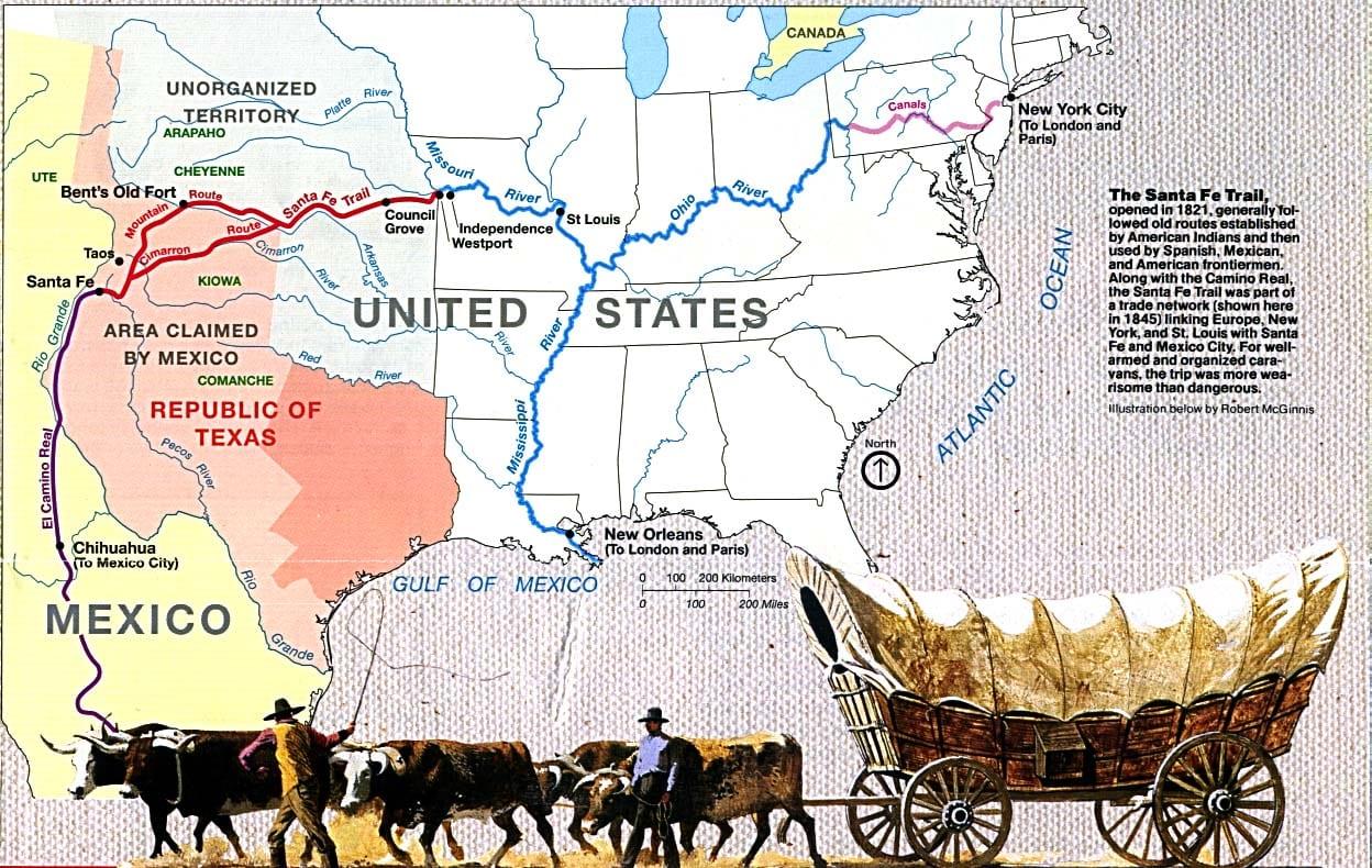 Map of Santa Fe National Historic Trail