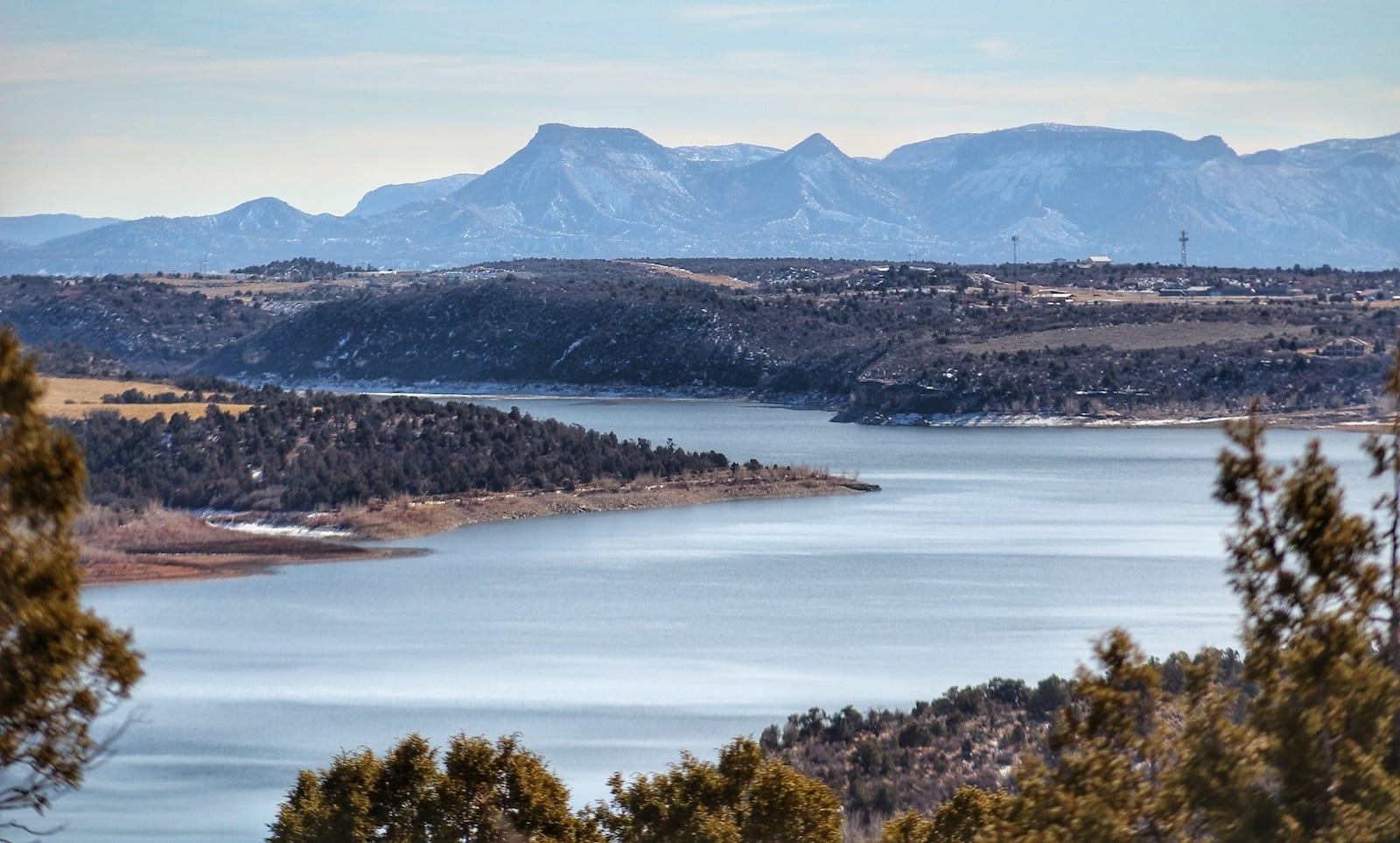 McPhee Reservoir Recreation Area Winter Dolores CO