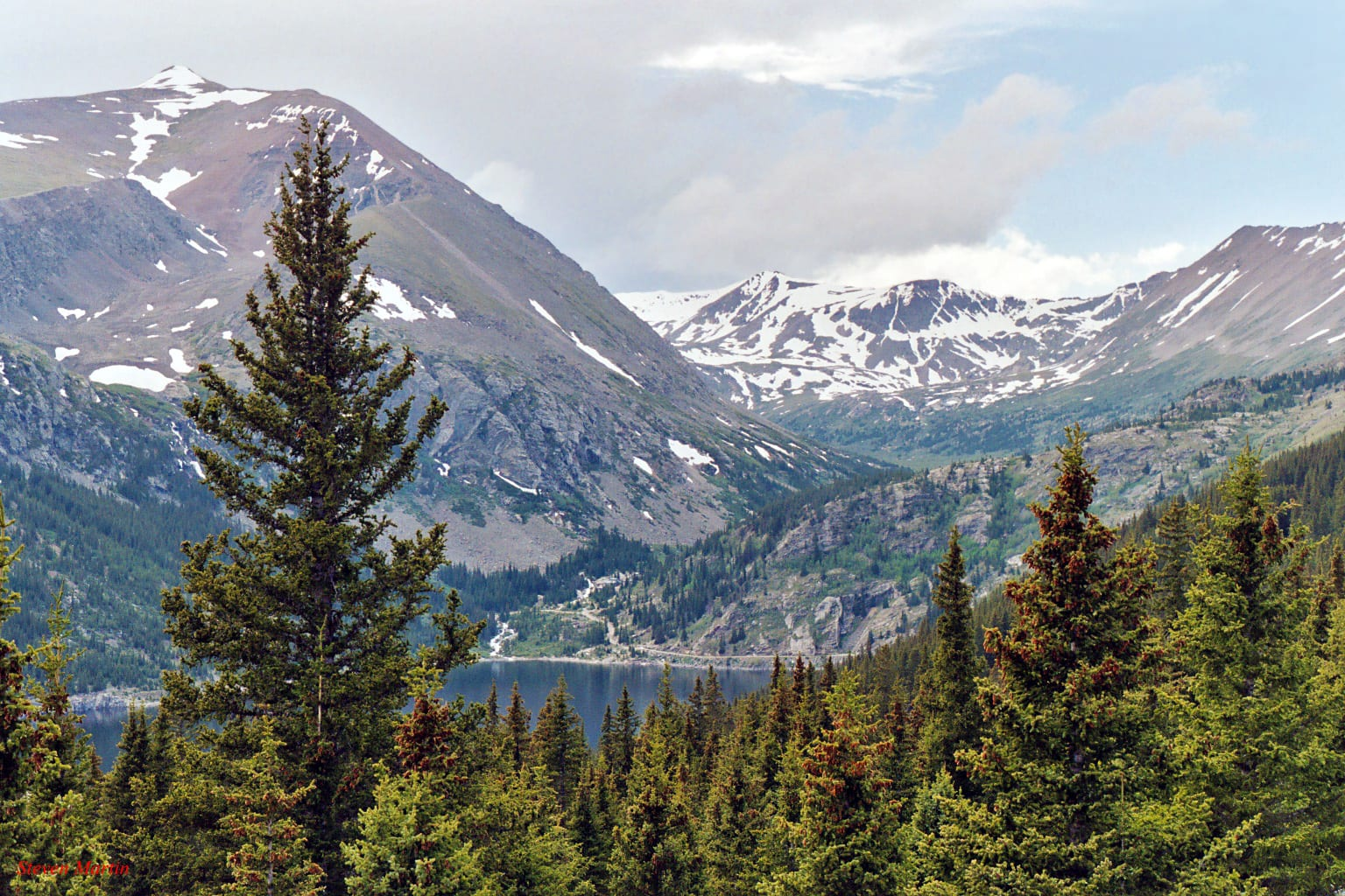 Montgomery Reservoir and Mount Lincoln Colorado