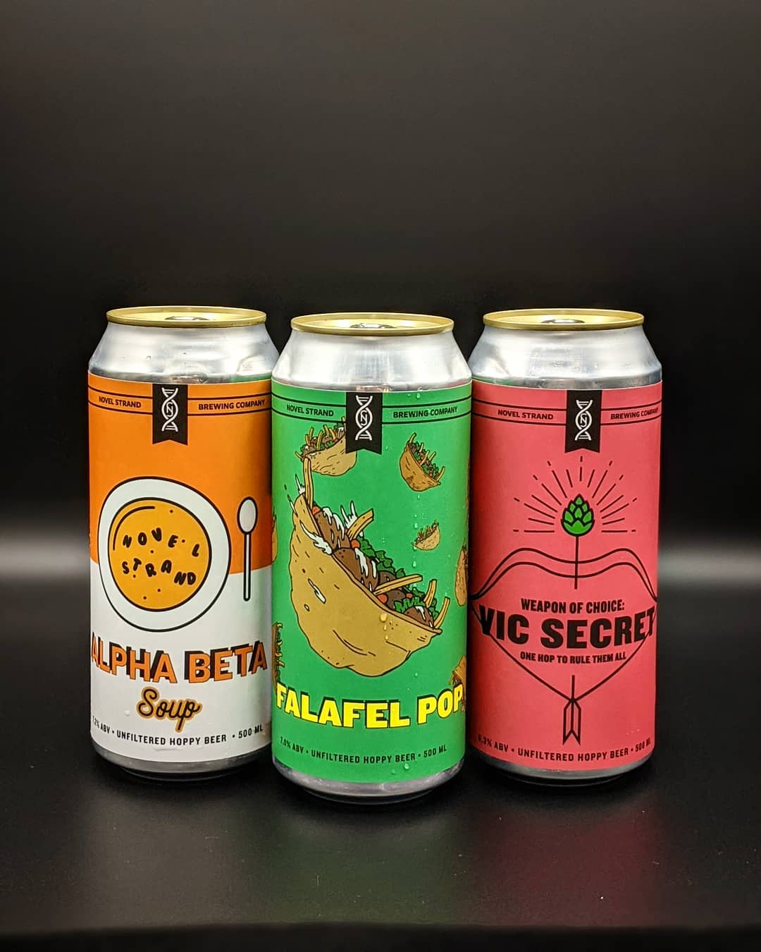 image of novel strand brewing beers