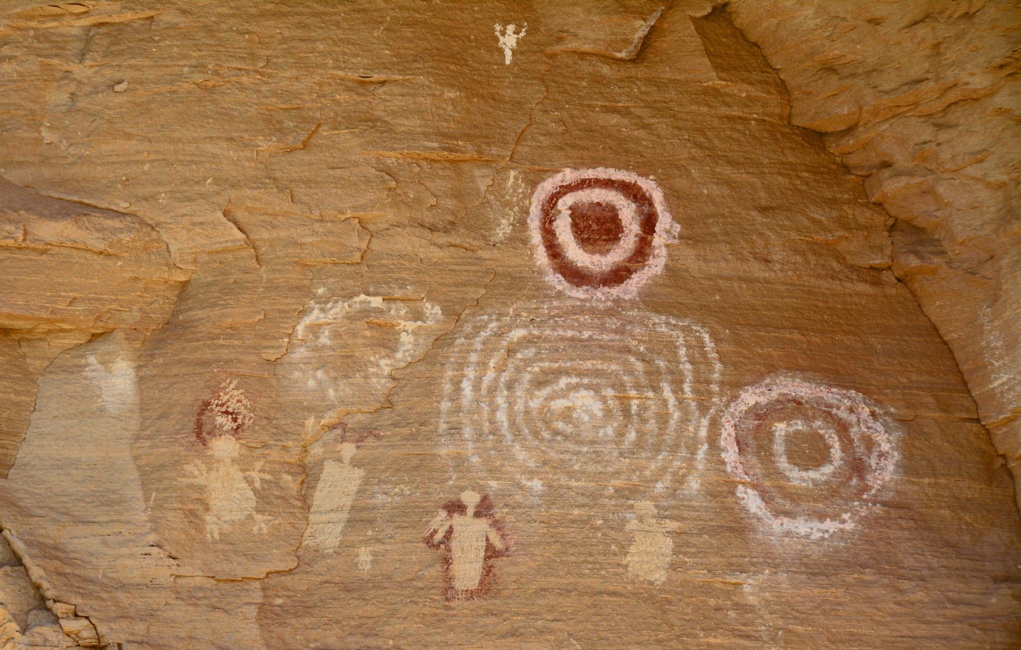Rangely CO Canyon Pintado Sun Dagger Pictograph
