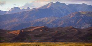 San Luis Valley Sand Dunes Sangre de Cristo Mountains