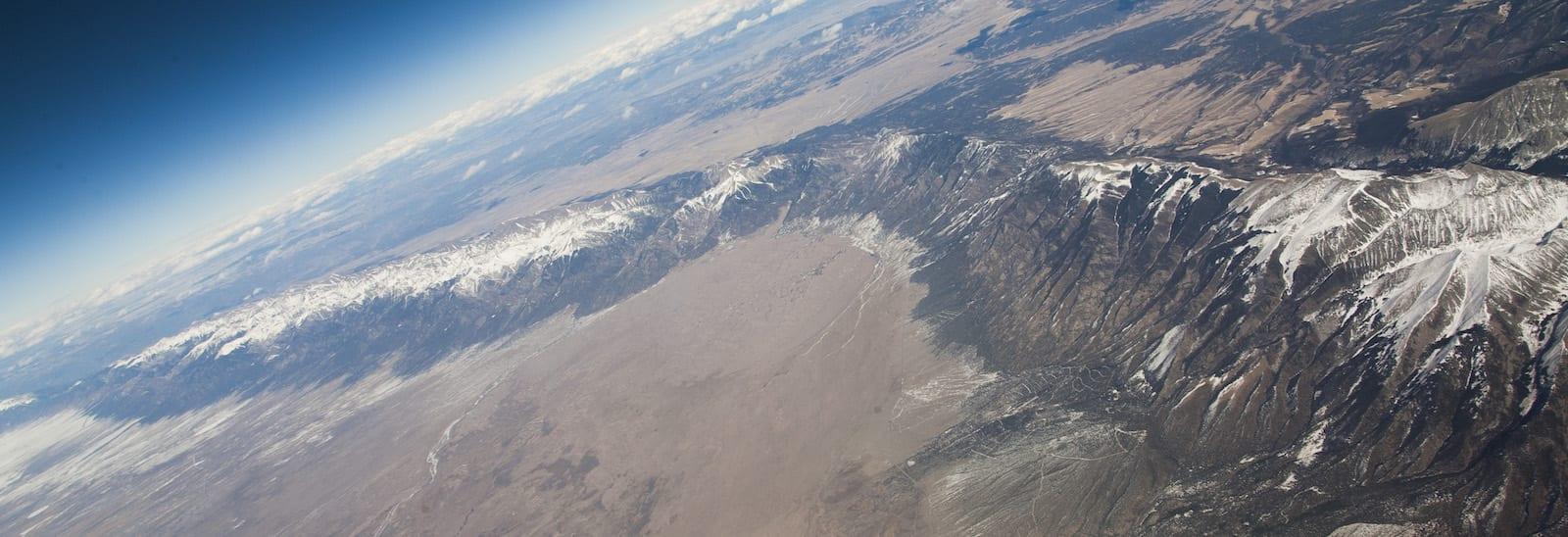 Sangre de Cristo Mountains Sand Dunes Aerial View