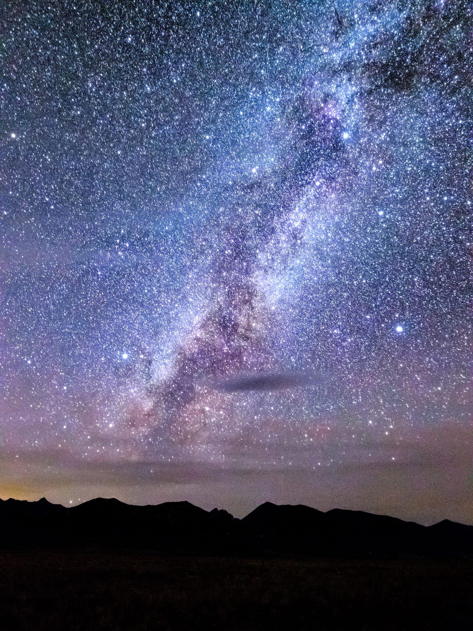 Sangre de Cristo Mountains Night Sky Stars