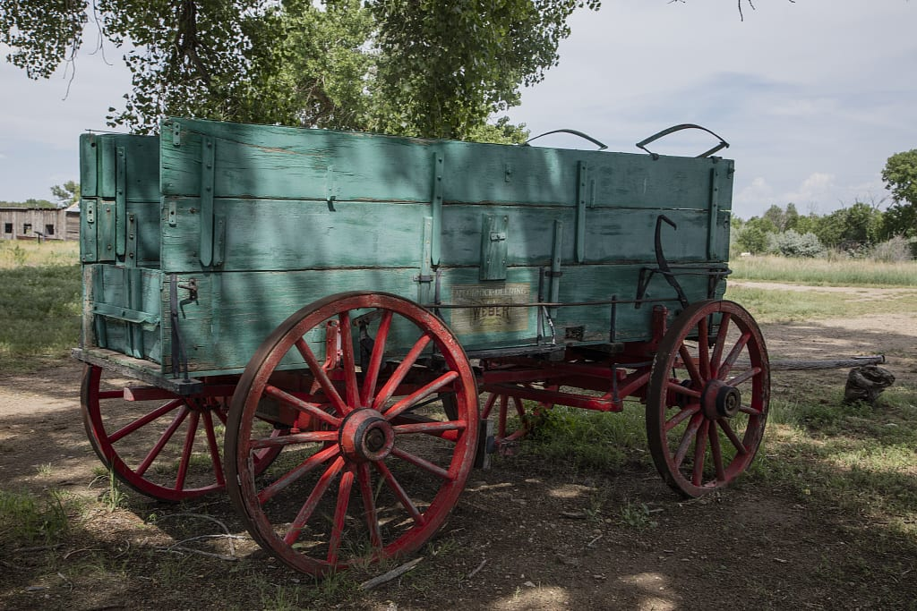Santa Fe Trail Old Freight Wagon Boggsville CO