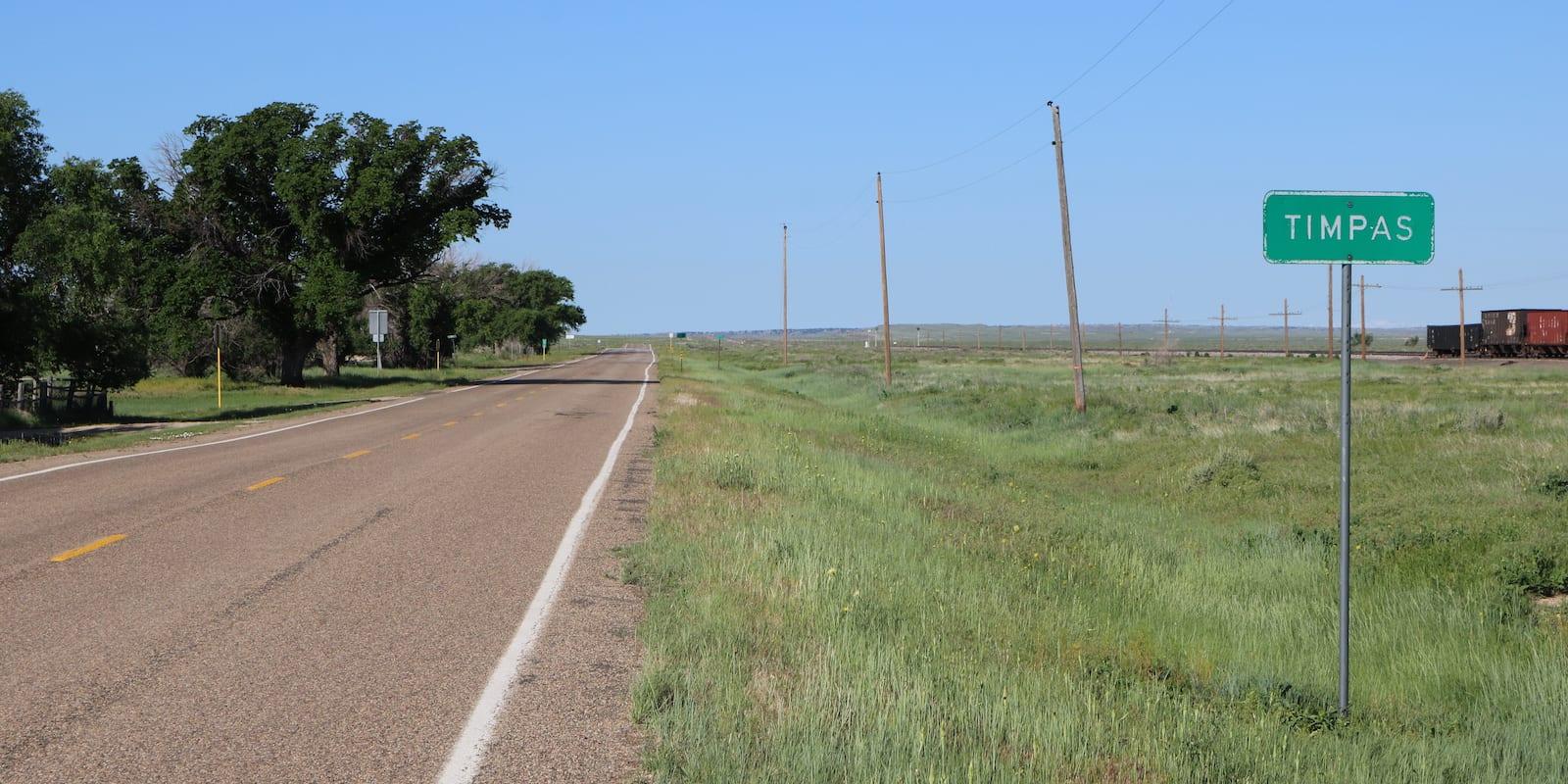 Timpas, Colorado Highway US-350