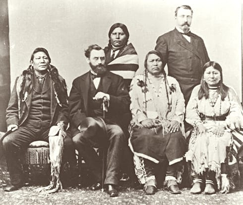 1880 Utah Delegation Washington DC Chief Ouray Chipeta