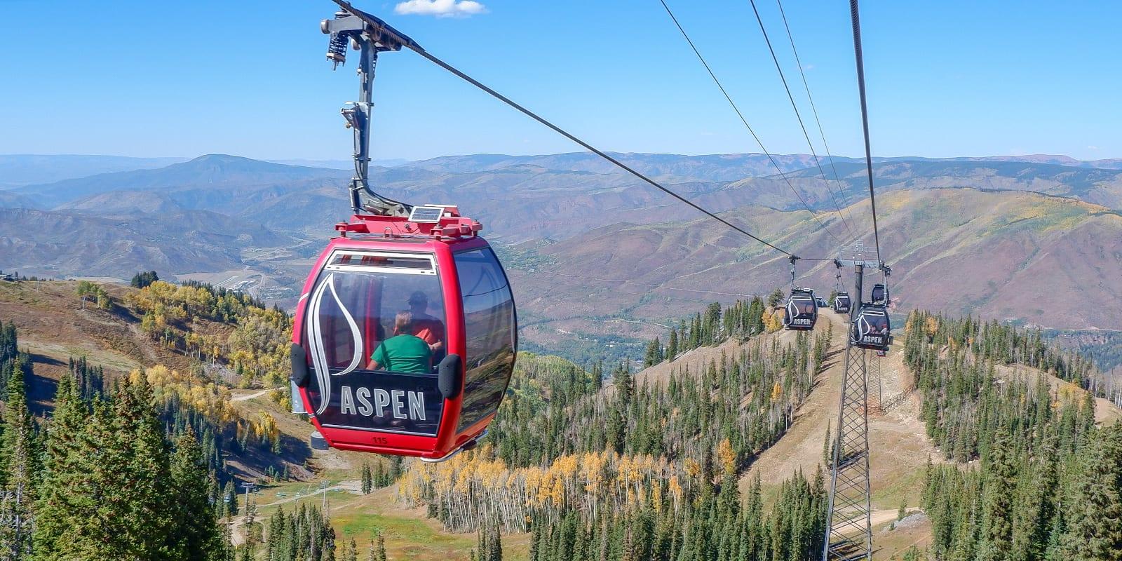 Aspen Mountain gondola, CO