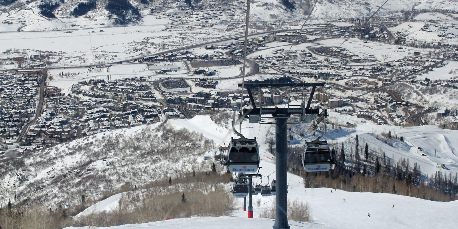 Steamboat Ski Resort Winter Gondola