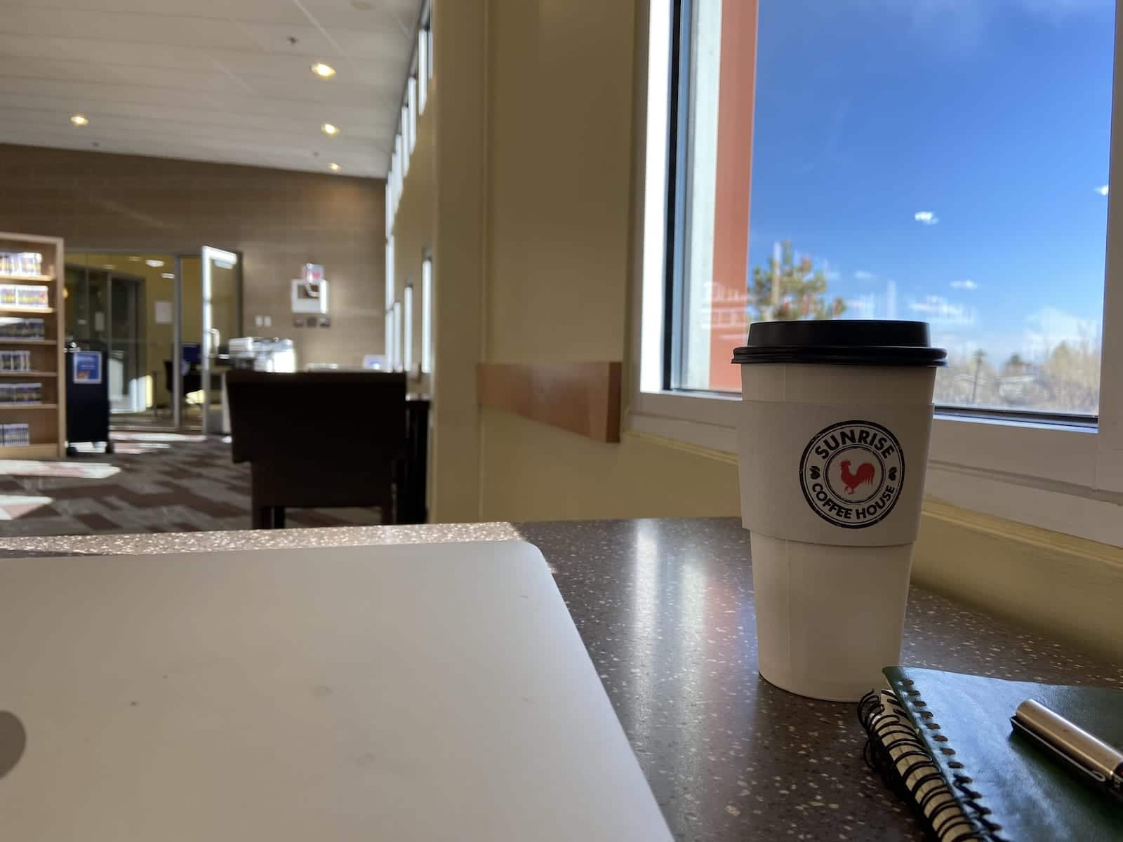 Anythink Library Sunrise Coffee Cup Denver CO