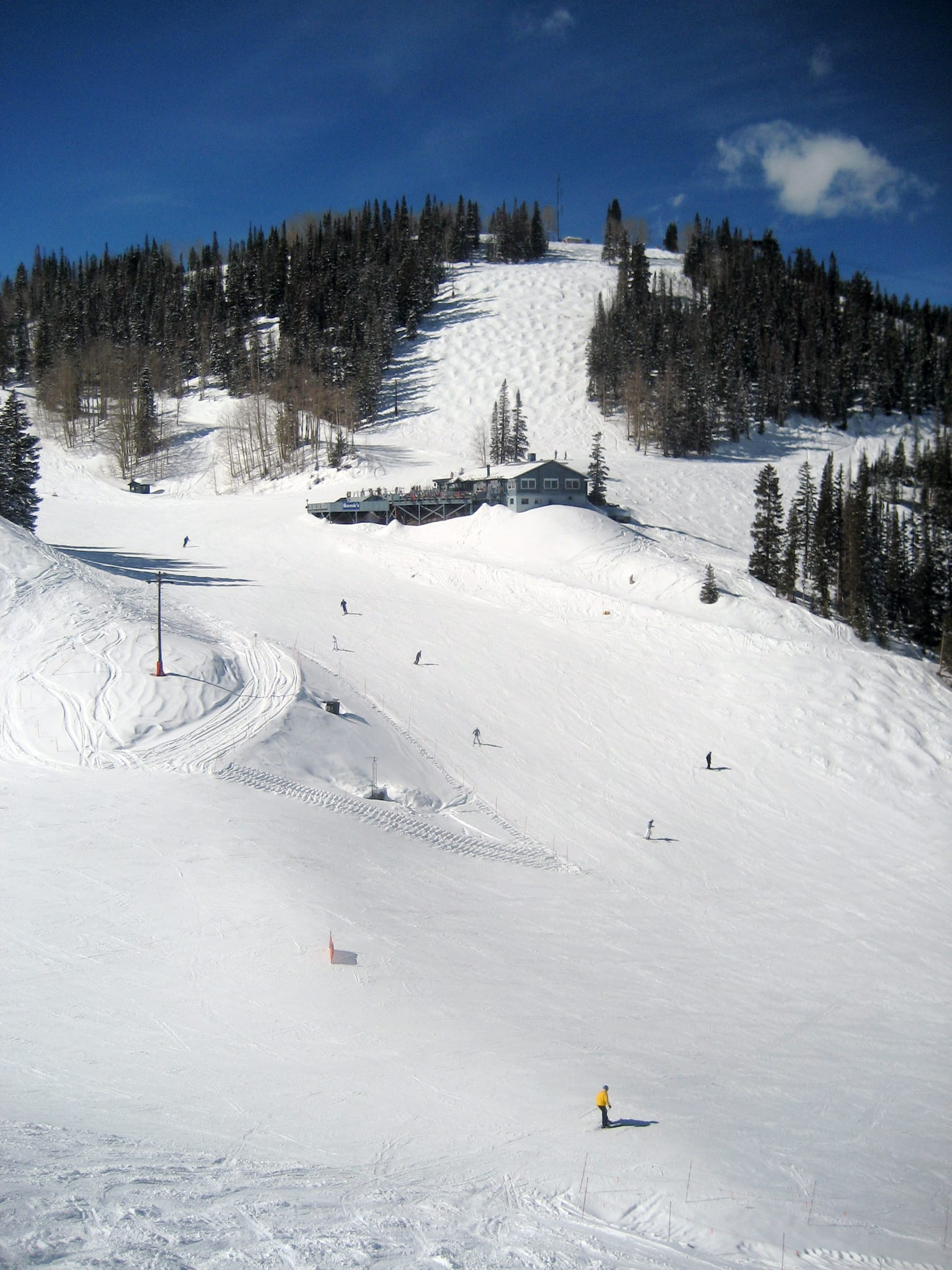 Aspen Mountain Bonnie's Restaurant View from Ajax Express Chairlift