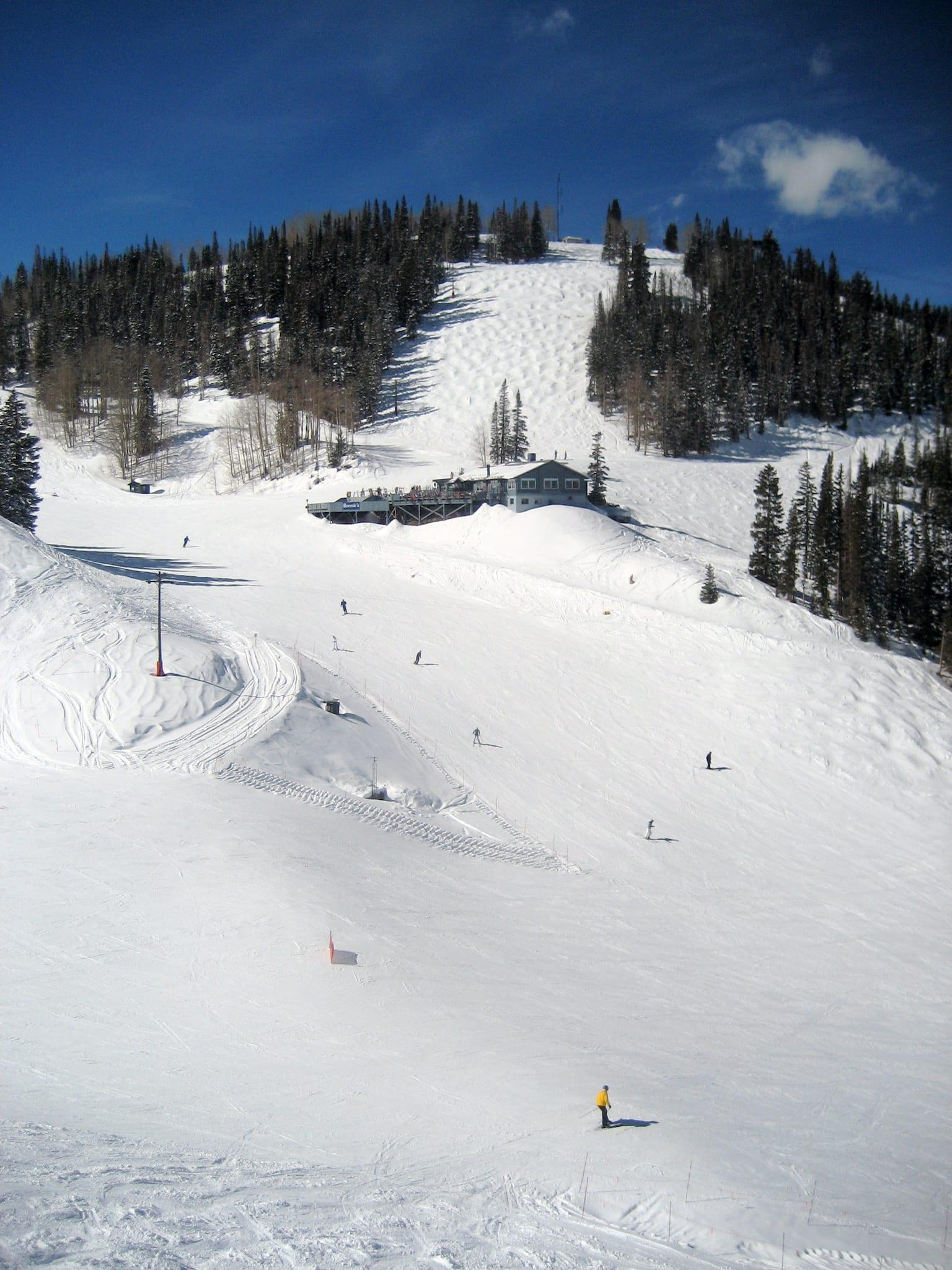 Aspen Mountain Bonnie's Restaurant View from Ajax Express Chairlift
