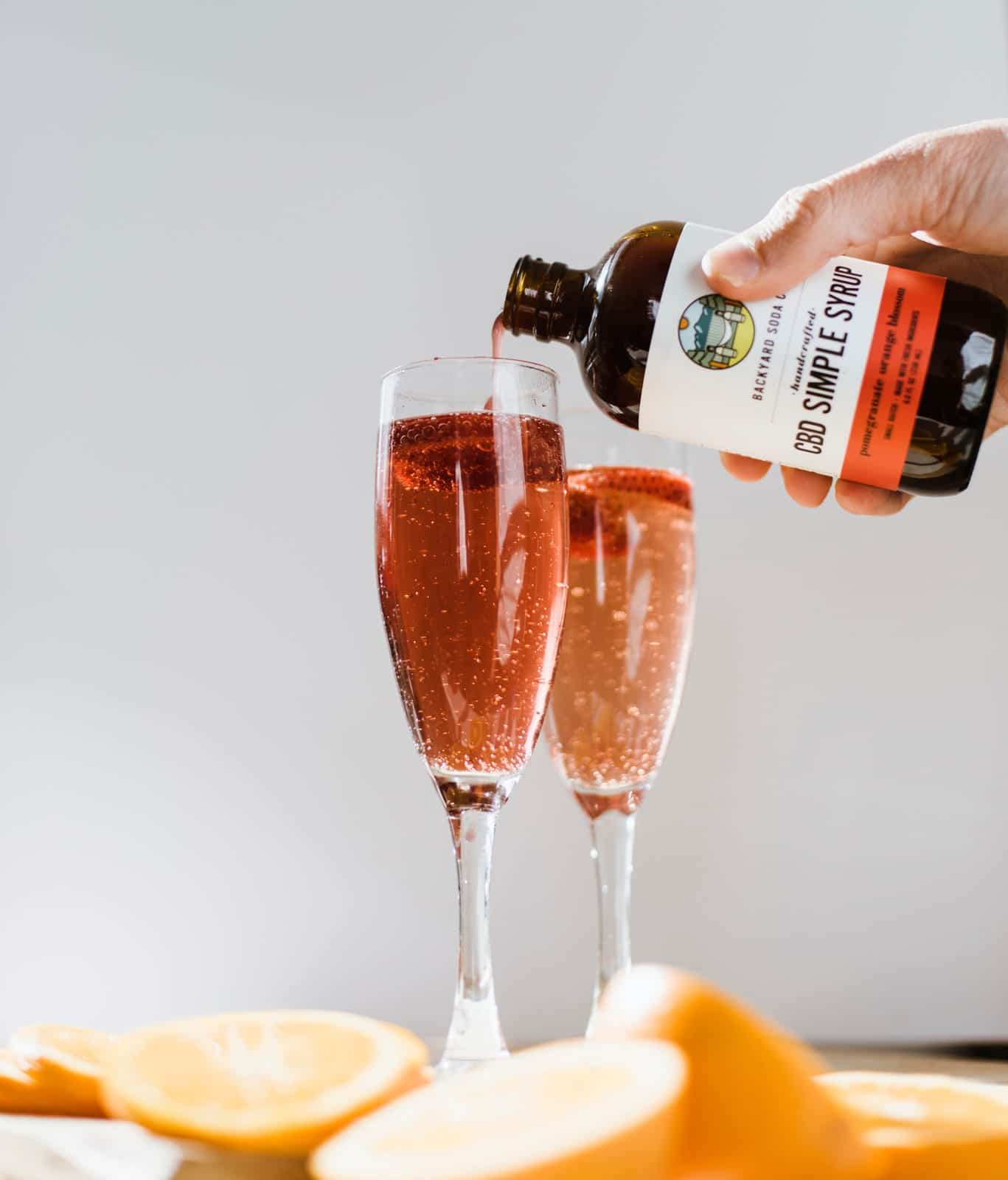 Backyard Soda Co. CBD Infused Simple Syrup Cocktail