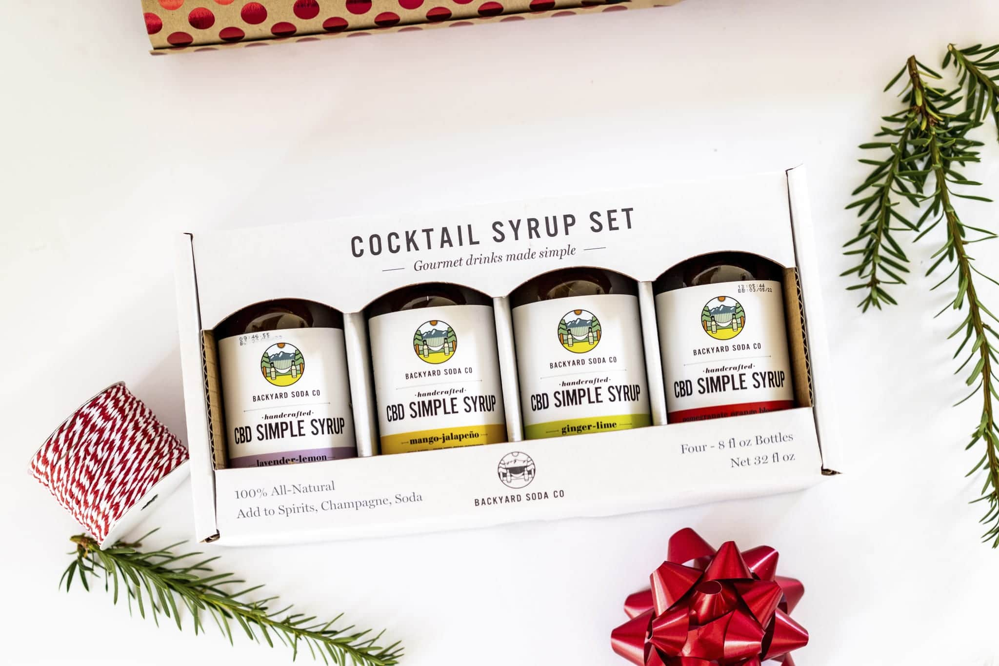CBD Simple Syrup by Backyard Soda Co. Holiday Gift Set