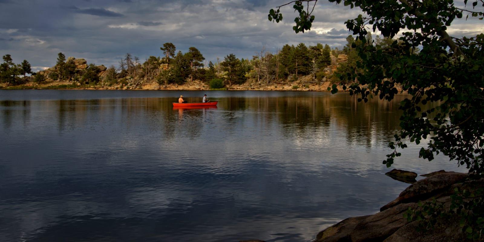 Bellaire Lake Fishing Boat Colorado