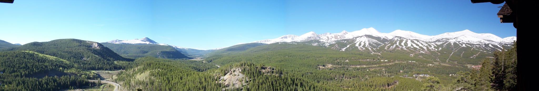 Breckenridge Colorado Spring Panorama