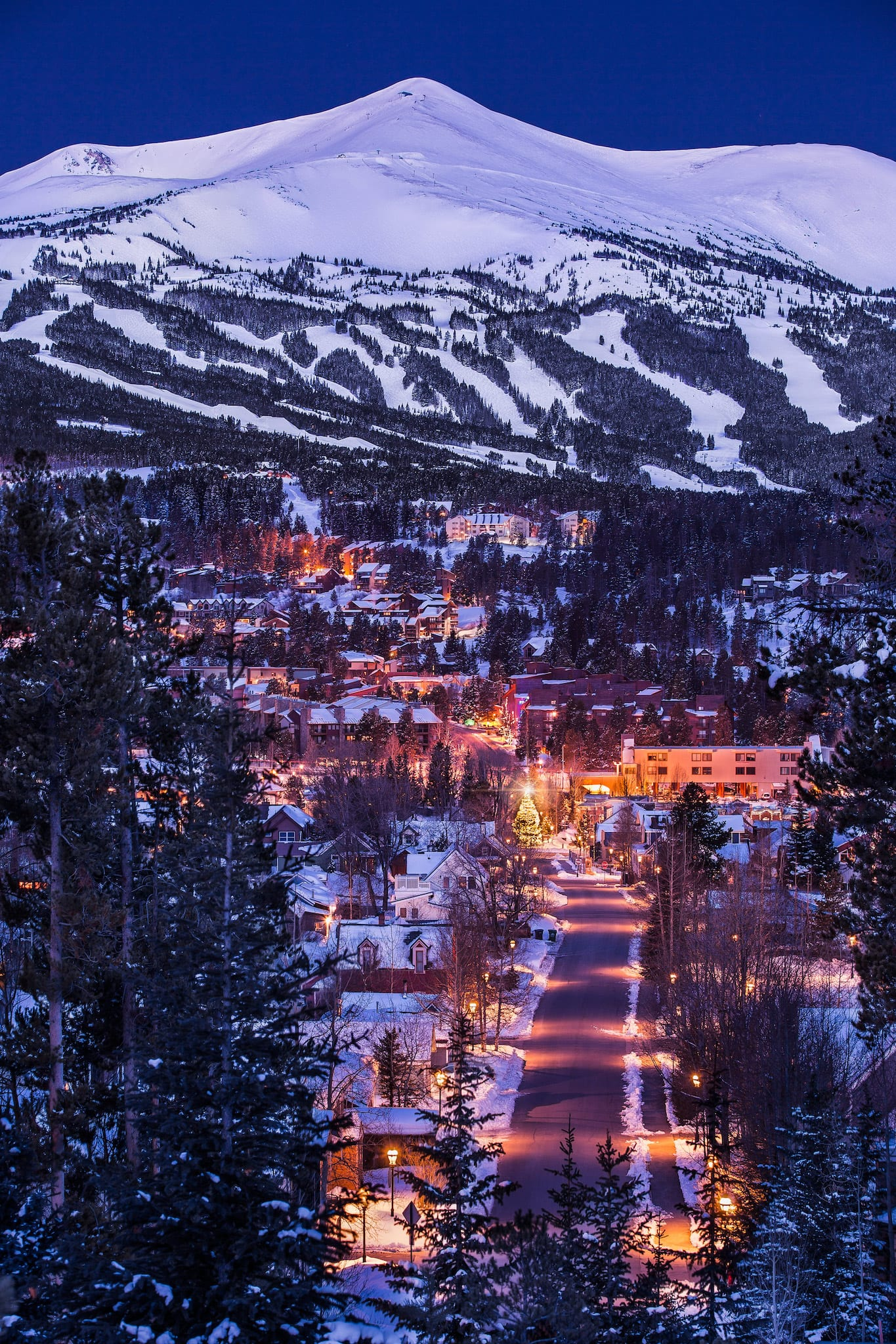 Breckenridge Ski Resort and Downtown Breck at Dawn