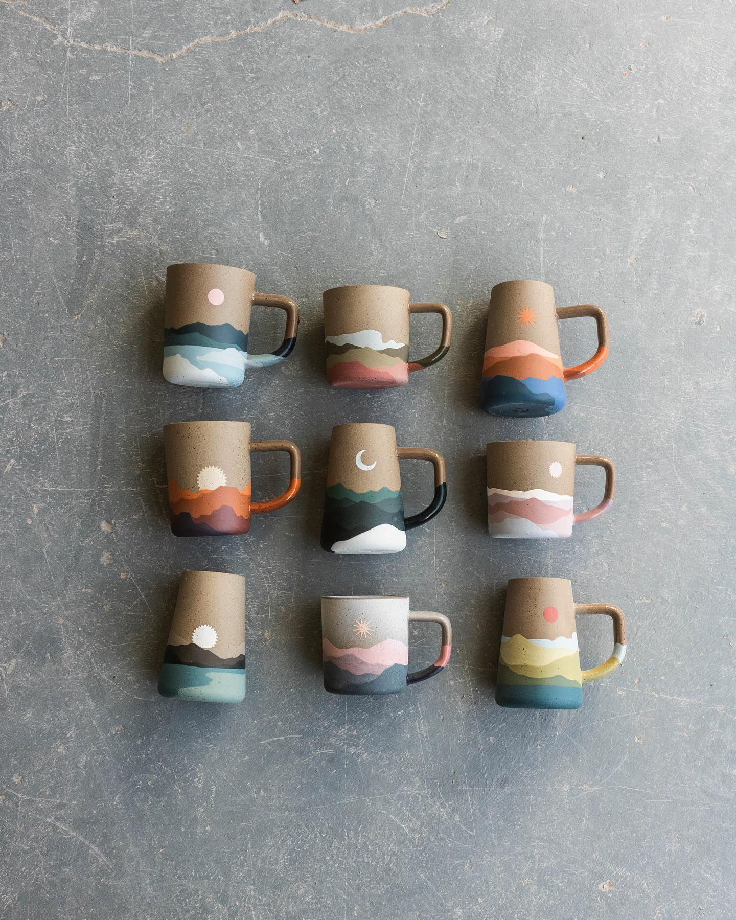 image of callahan ceramics mugs