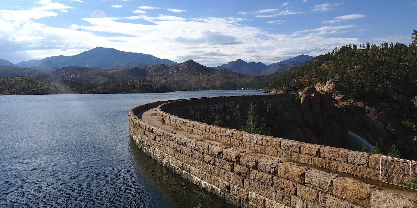 Top of Cheesman Dam Colorado