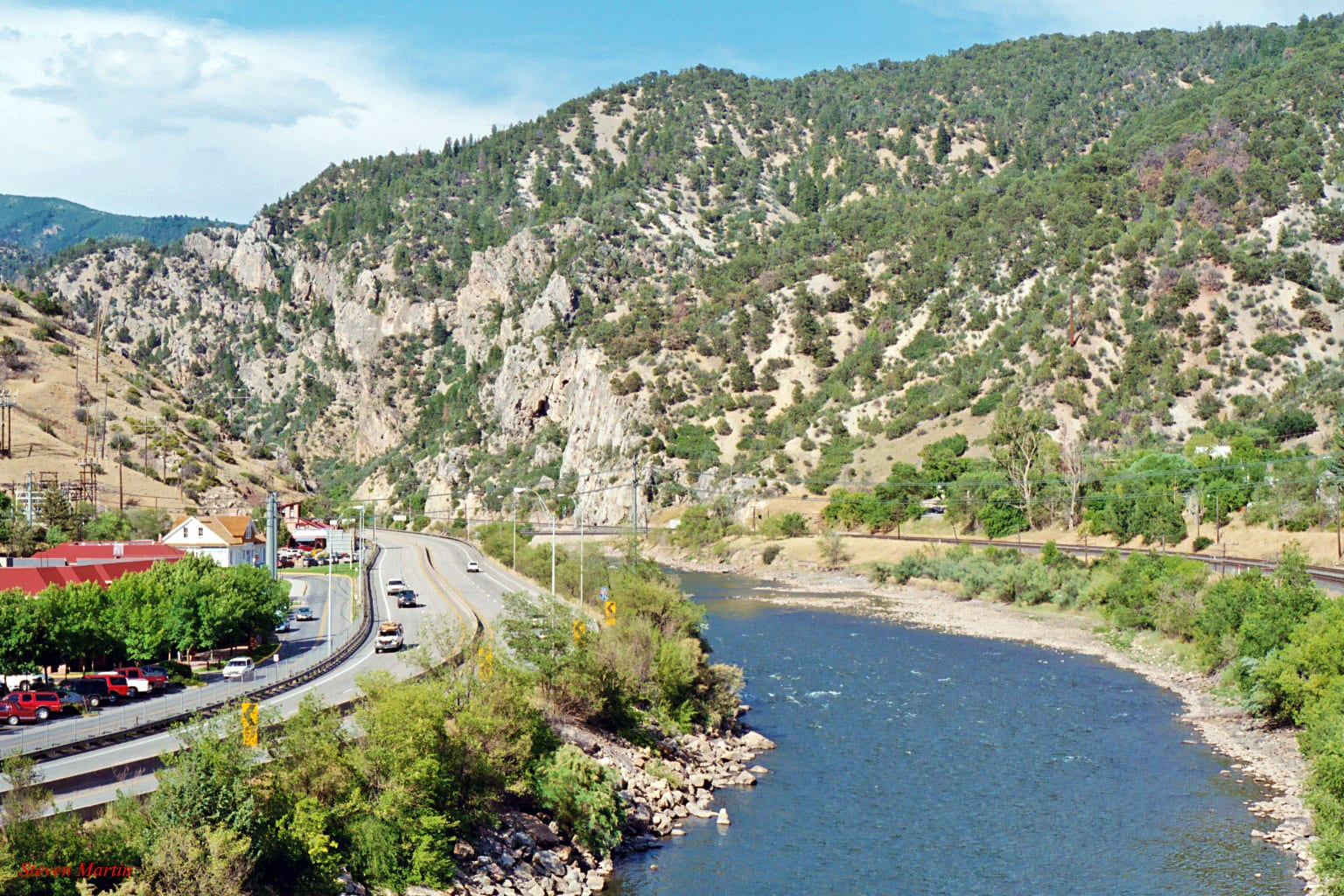 Colorado River and I-70 Glenwood Springs CO