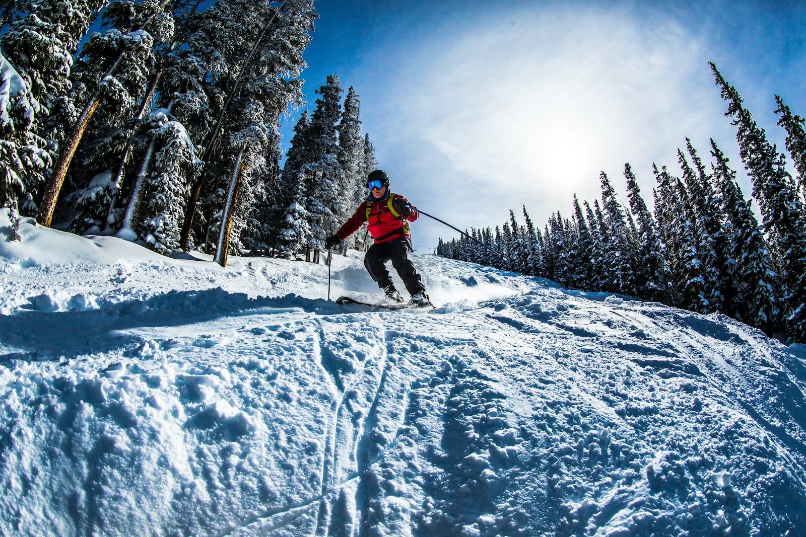 Copper Mountain Ski Resort Skier Colorado