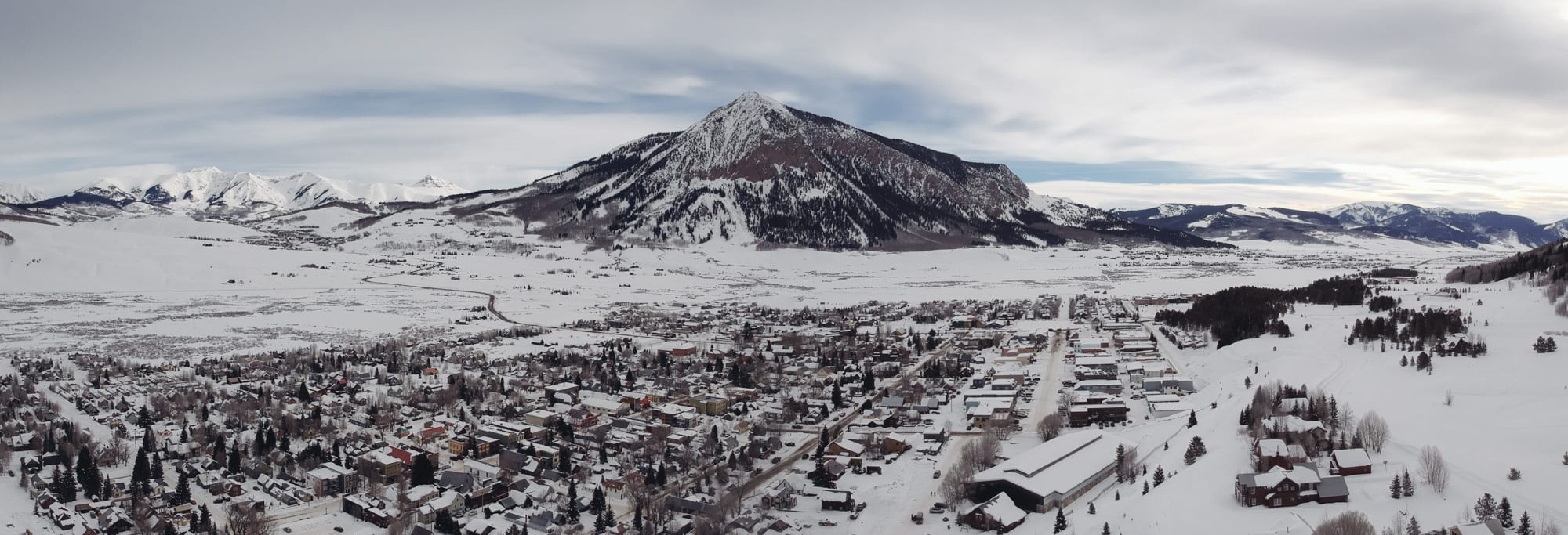 Downtown Crested Butte and Mount Crested Butte Panorama