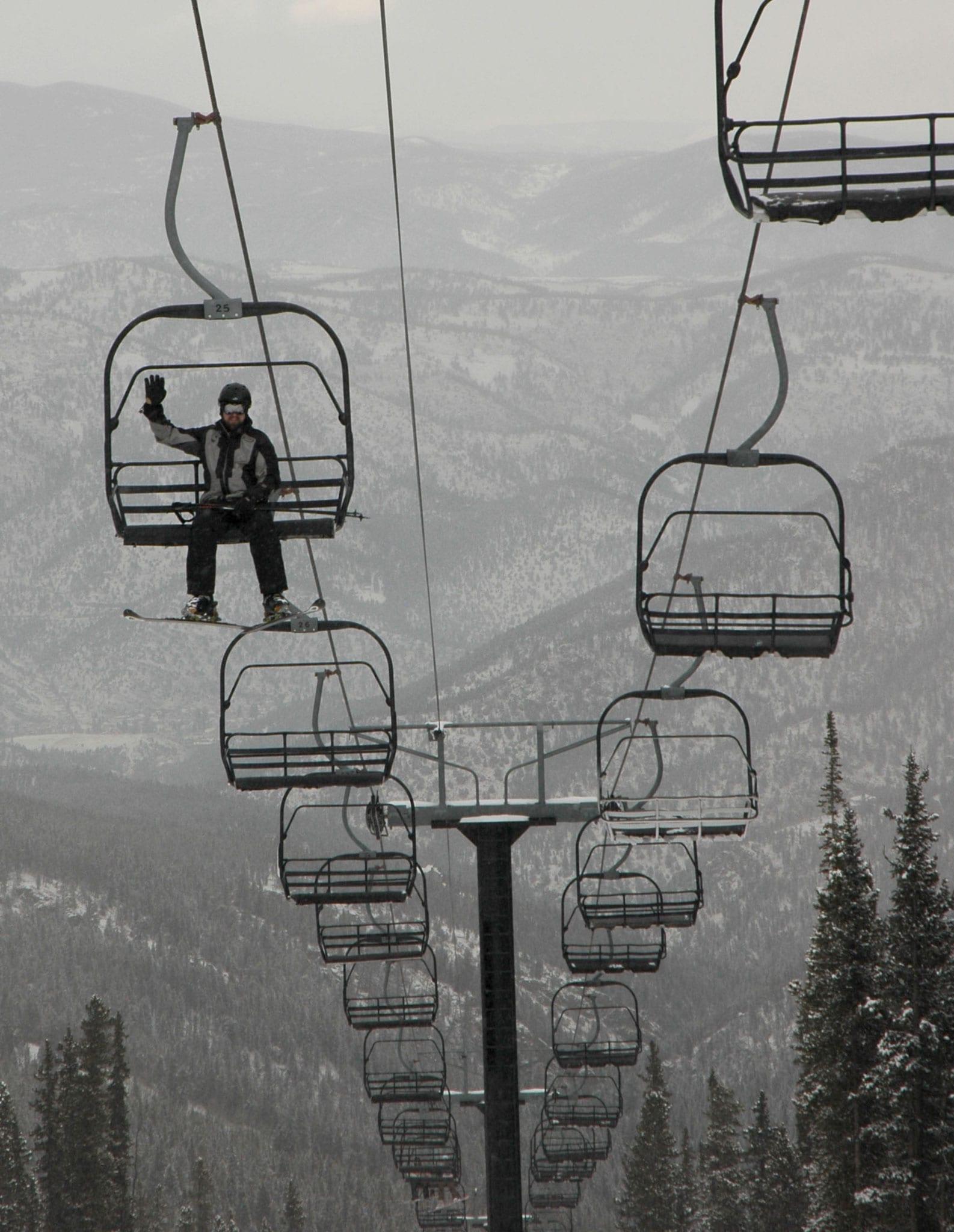 Echo Mountain Resort Chairlift Idaho Springs Colorado