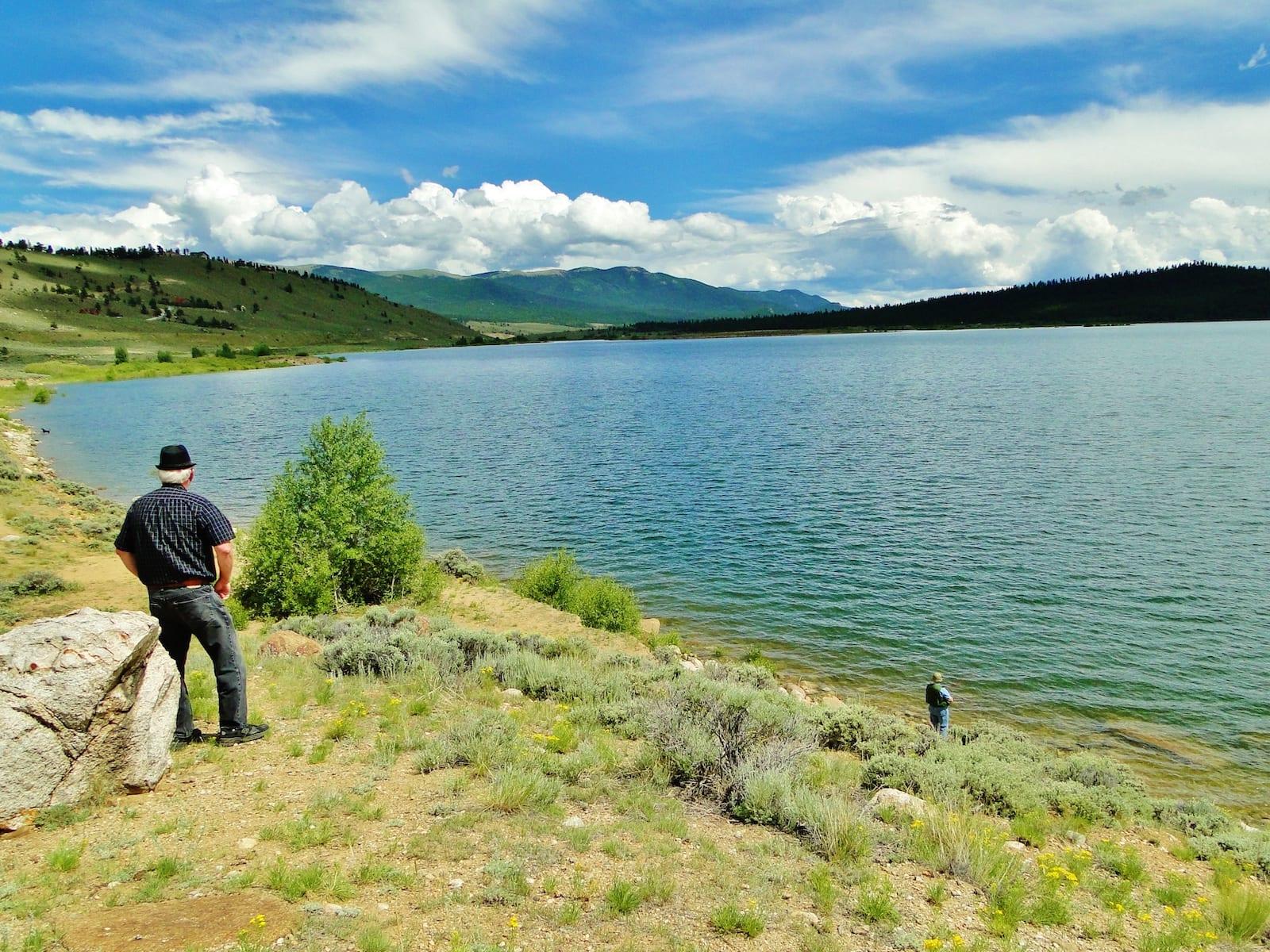 Fishing Twin Lakes Reservoir Colorado